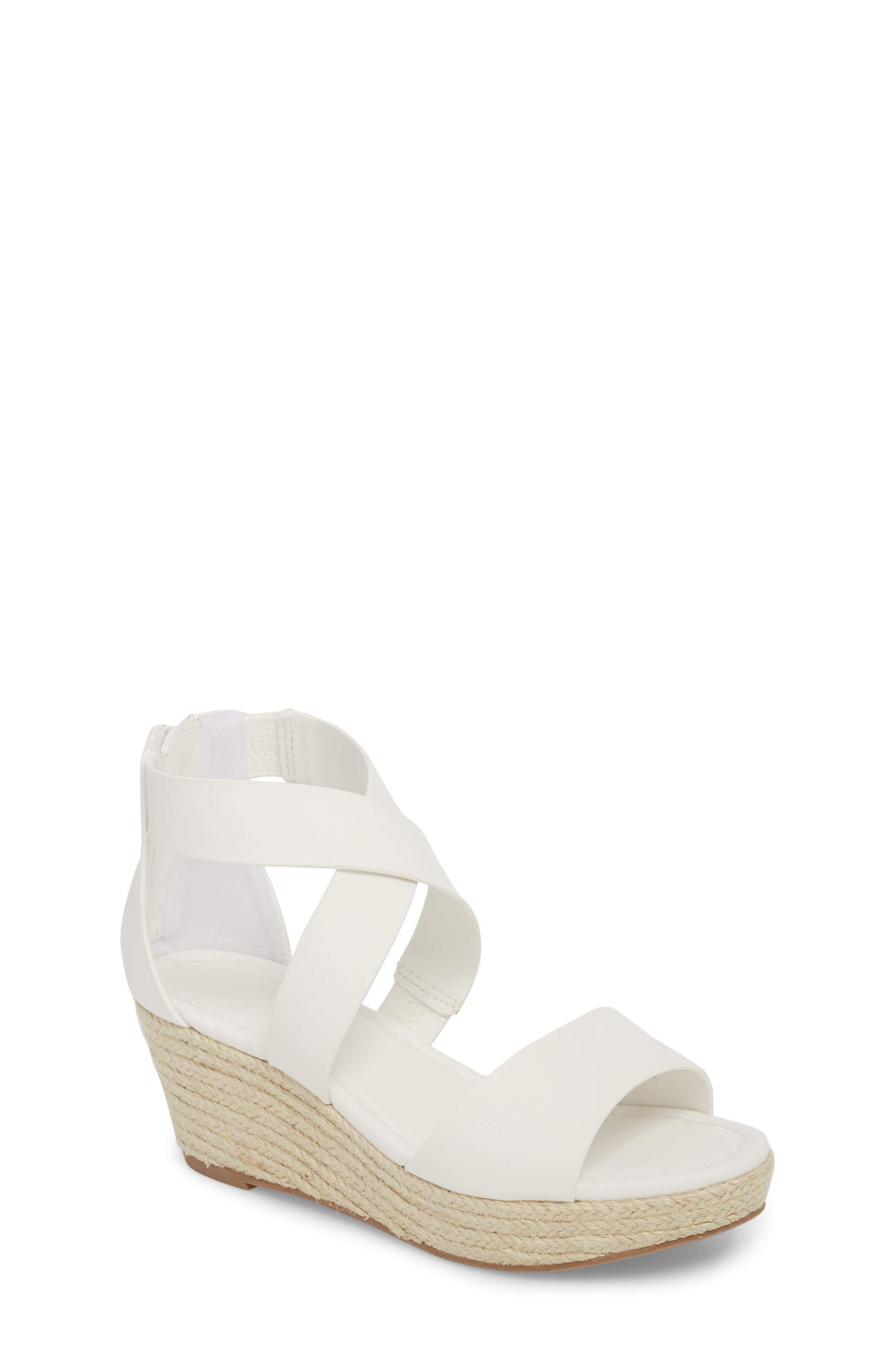 Wilma Platform Wedge Sandal,                         Main,                         color, White