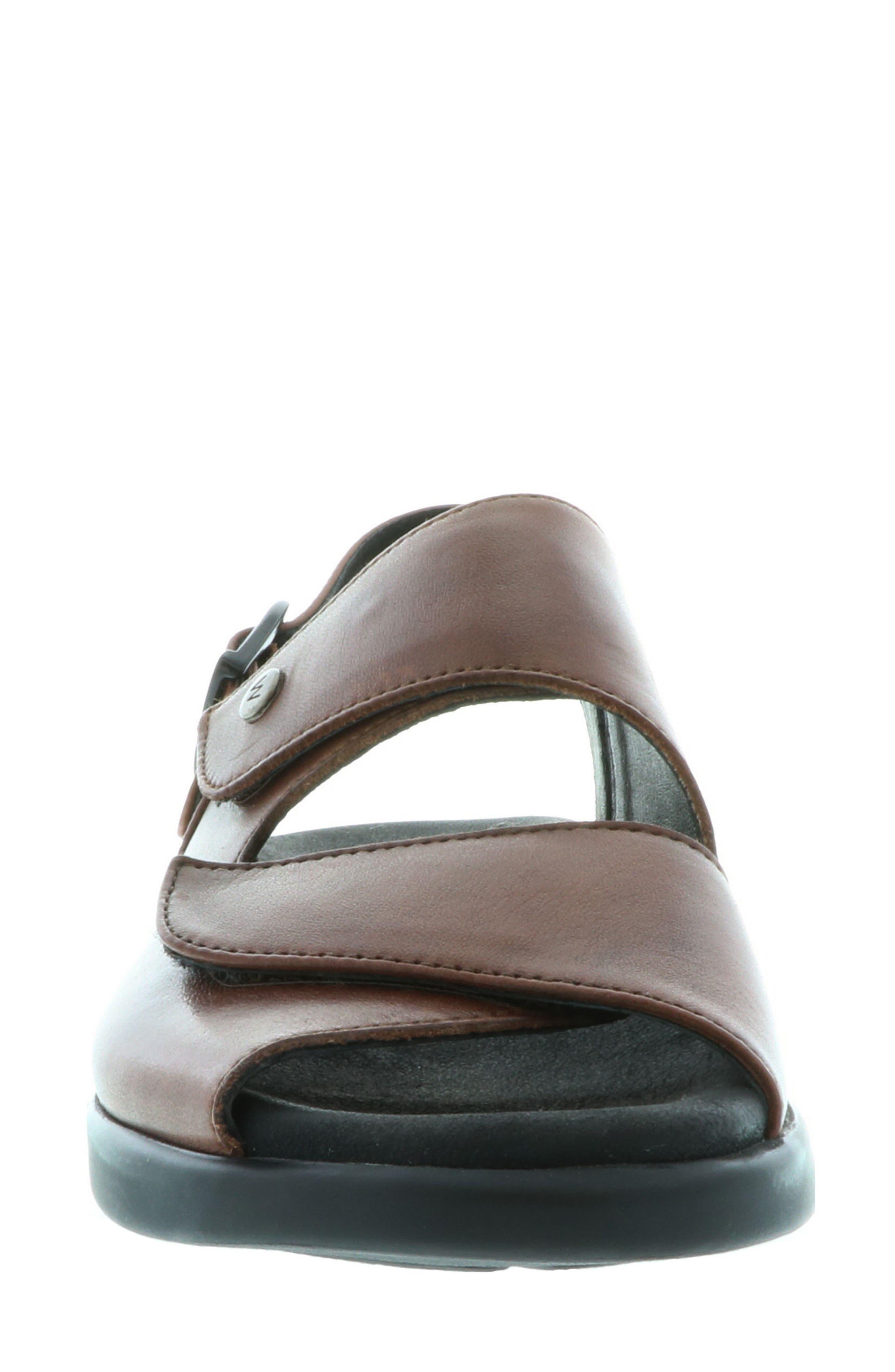 Nimes Sandal,                             Alternate thumbnail 4, color,                             Cognac Faux Leather