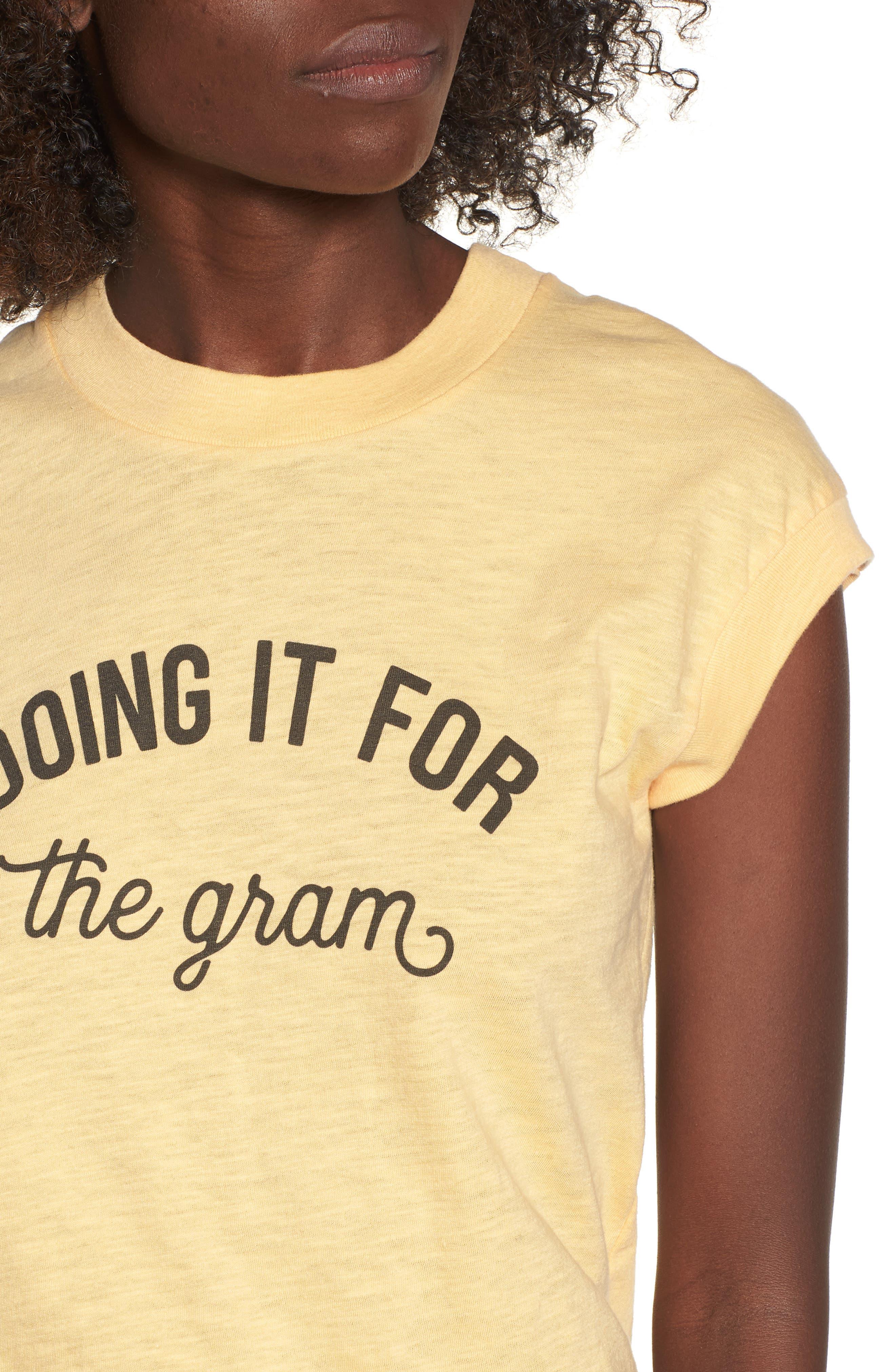 Doing It For the Gram Graphic Tee,                             Alternate thumbnail 4, color,                             Honey