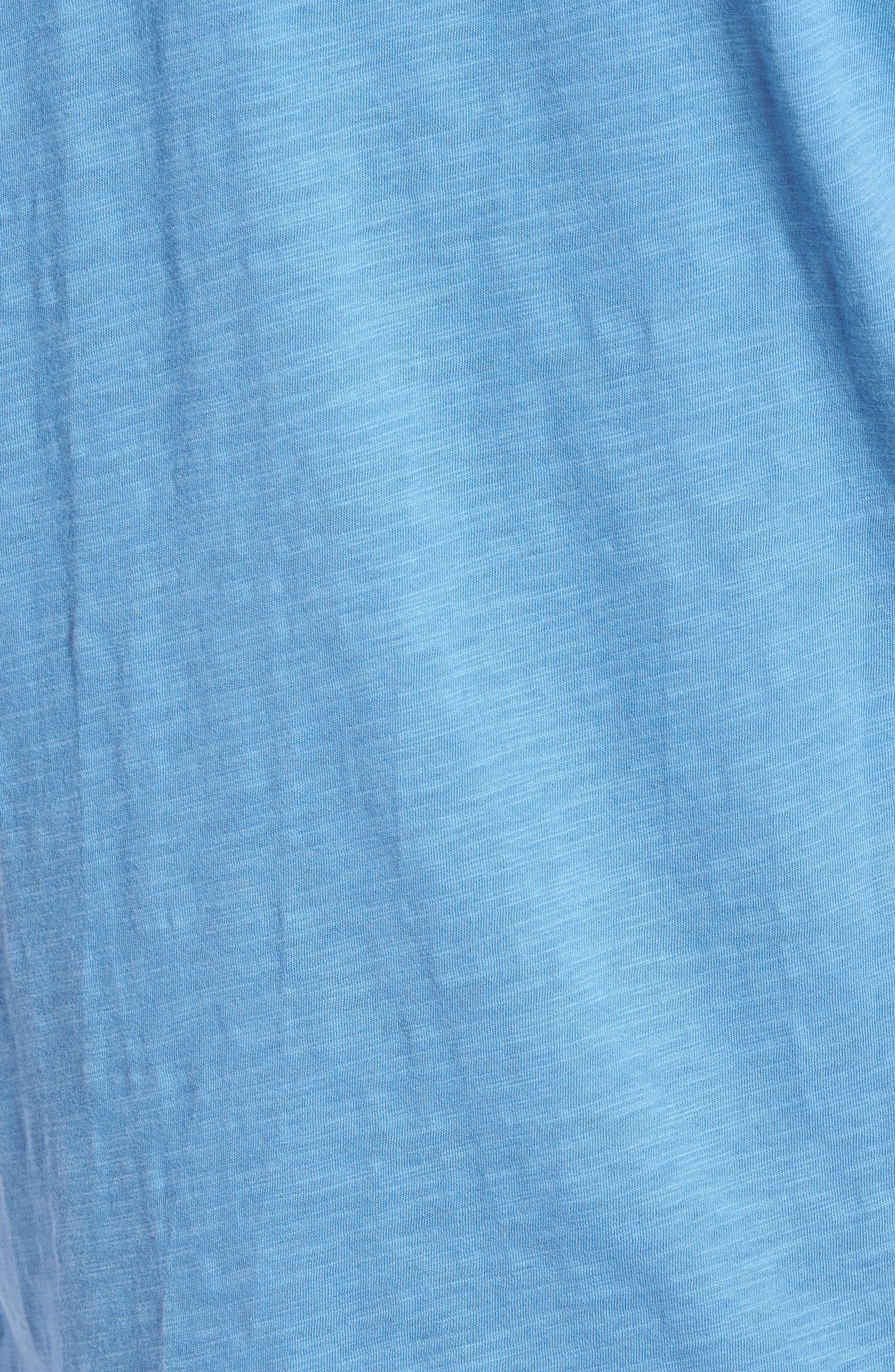 Slim Fit Slubbed V-Neck T-Shirt,                             Alternate thumbnail 5, color,                             Petrol Blue