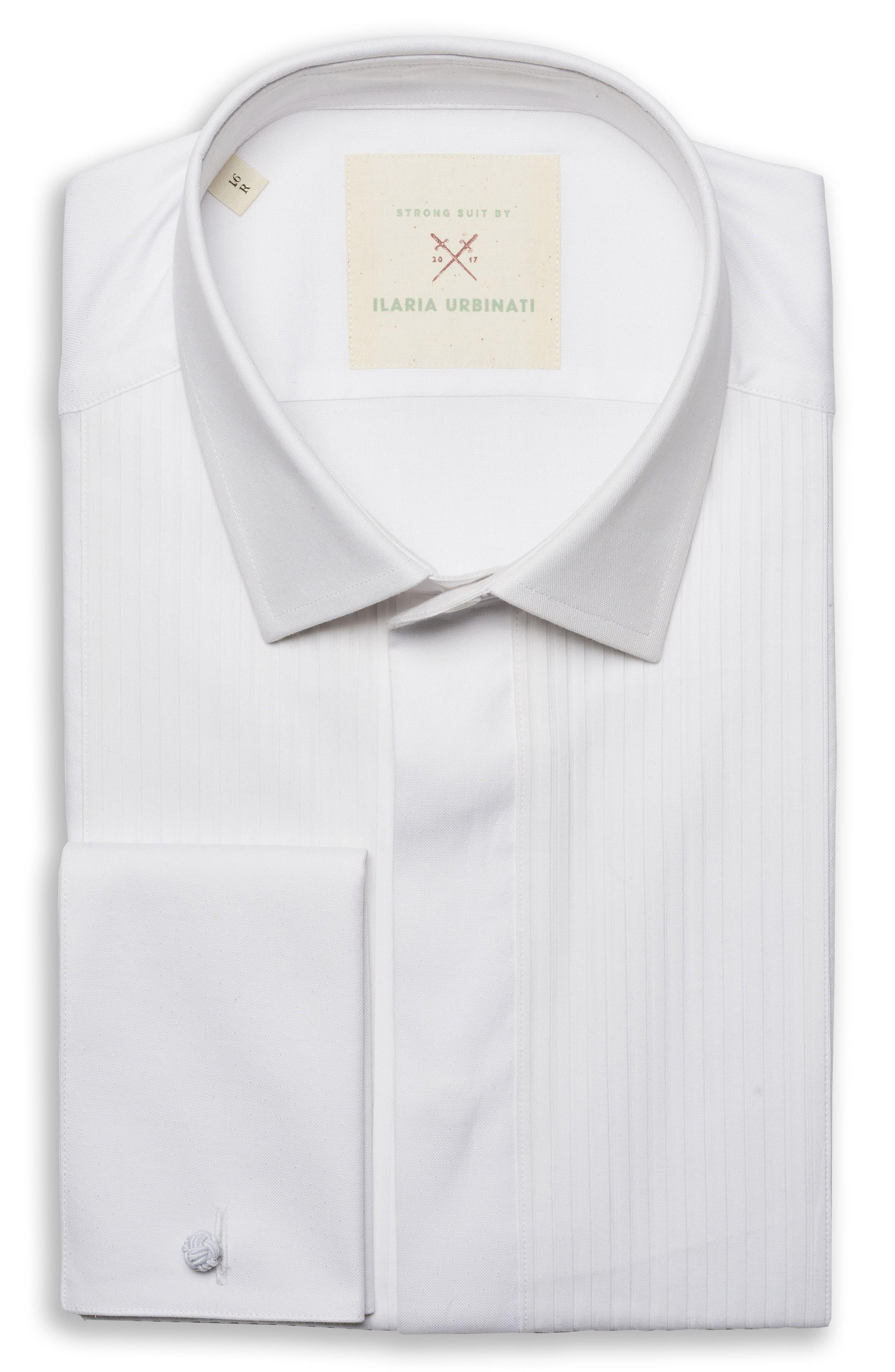 by Ilaria Urbinati Slim Fit Tuxedo Shirt,                         Main,                         color, White