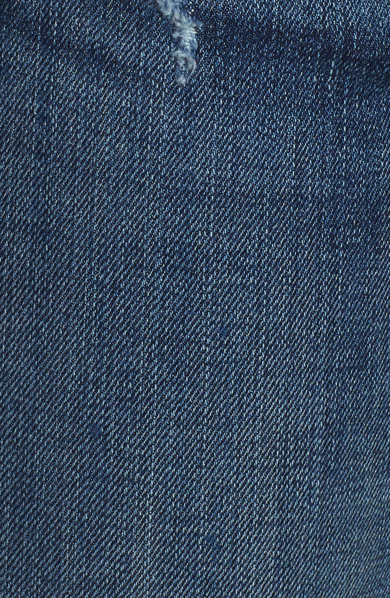 Barbara Exposed Zip High Waist Ankle Skinny Jeans,                             Alternate thumbnail 6, color,                             Vibez