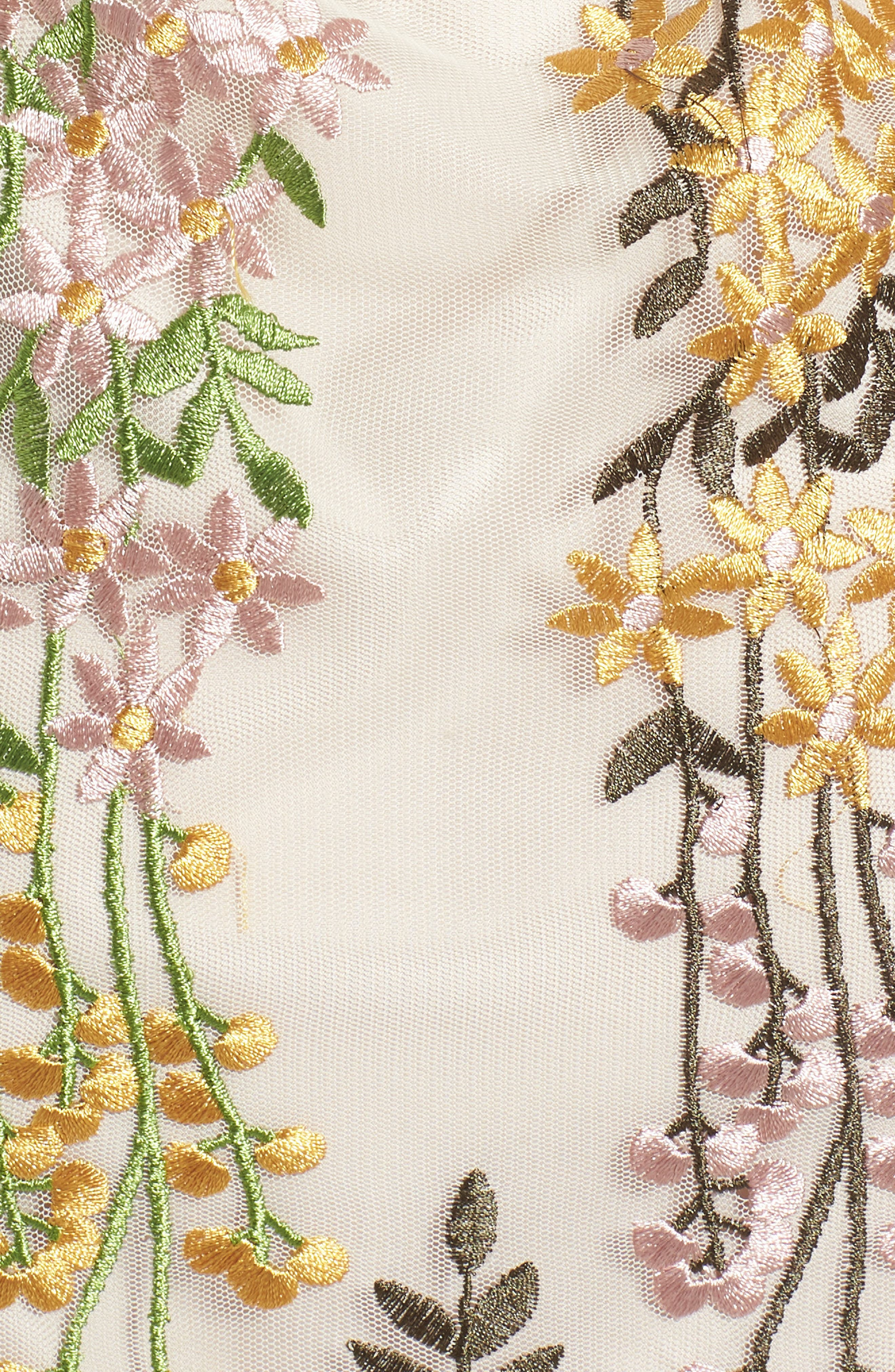 Gram Embroidered Minidress,                             Alternate thumbnail 6, color,                             Soft Beige