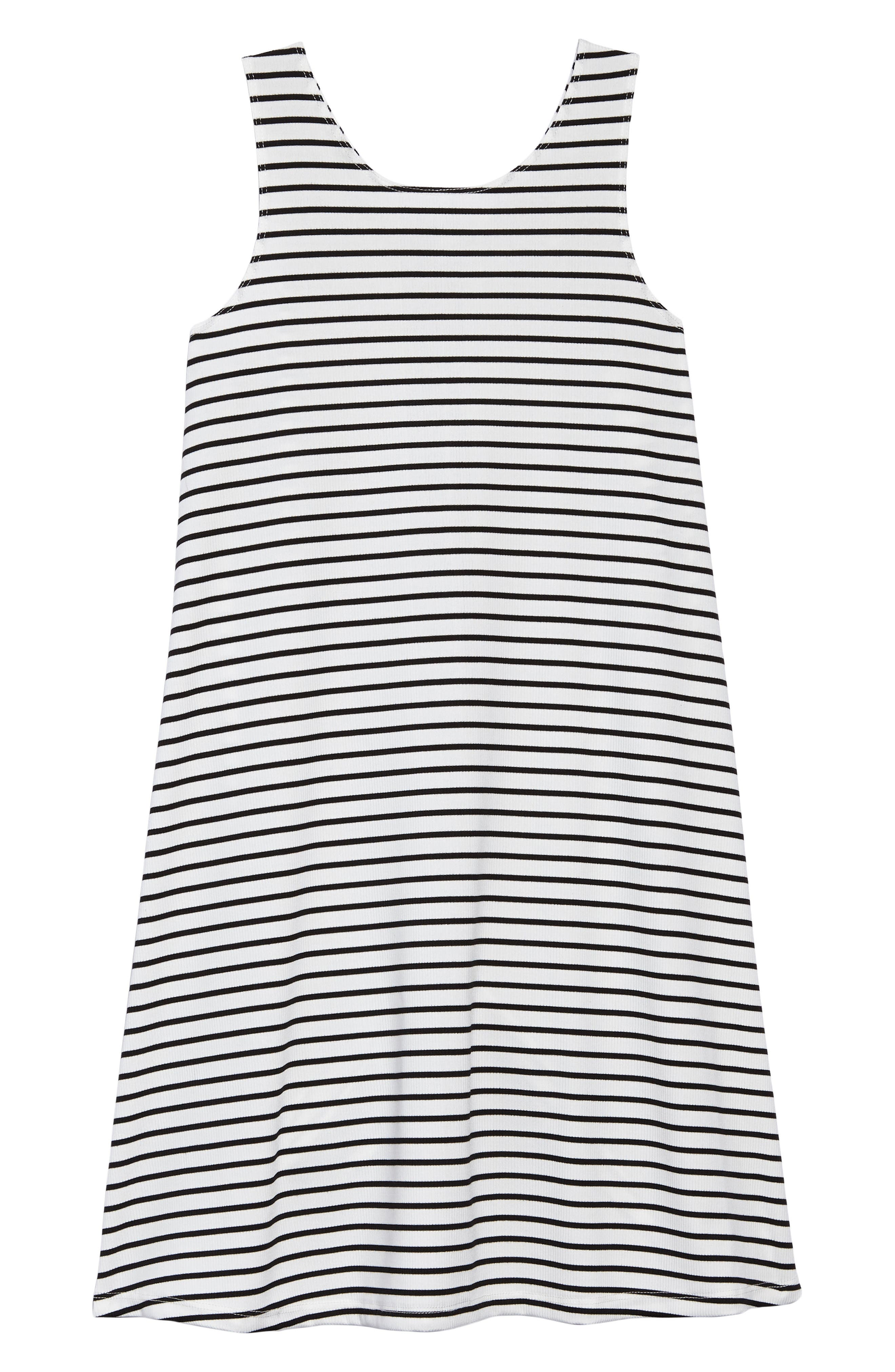 Esther Stripe Dress,                         Main,                         color, White