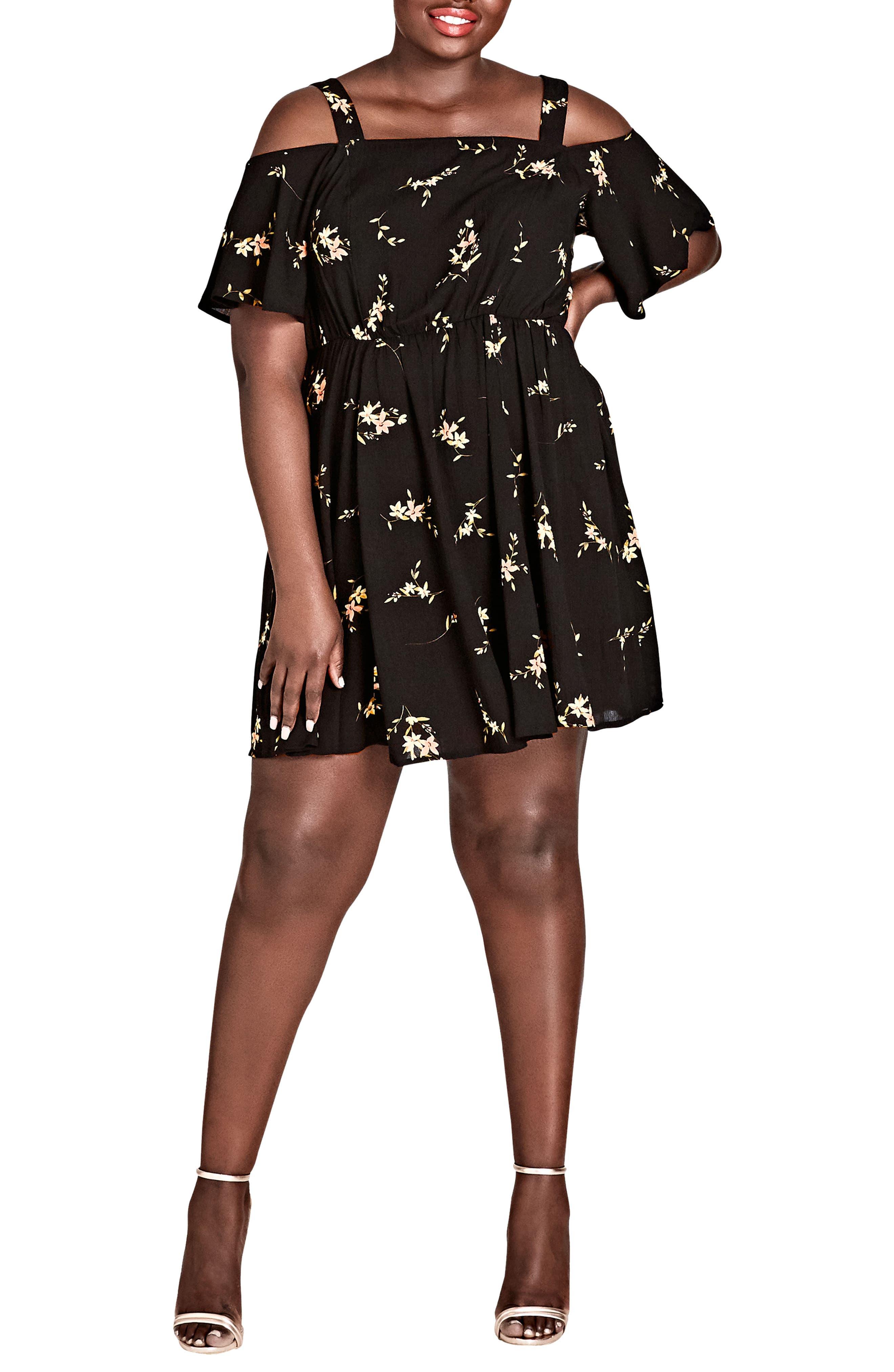 Aerial Frills Dress,                             Main thumbnail 1, color,                             Aerial Floral