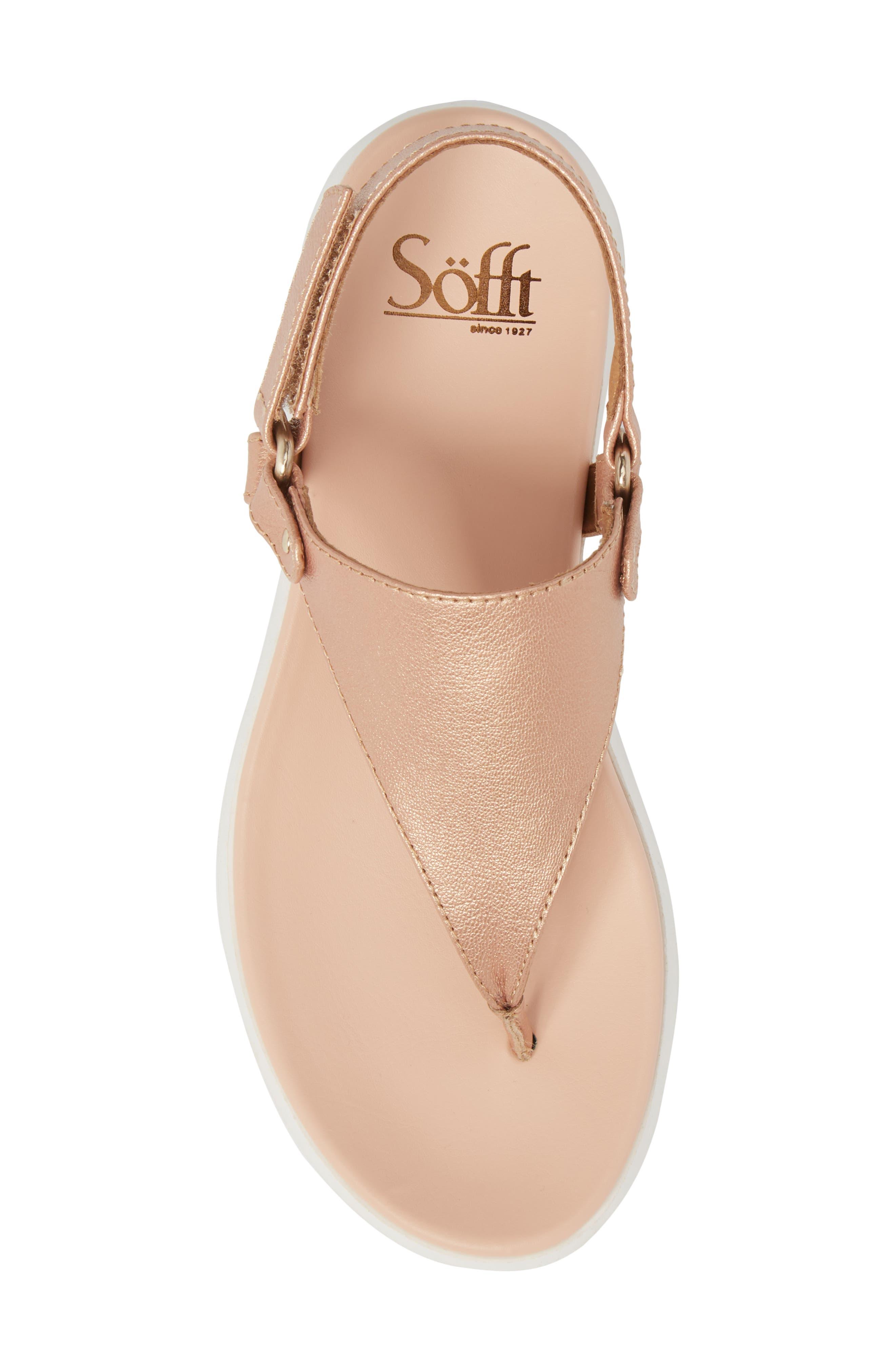 Felisa Sandal,                             Alternate thumbnail 5, color,                             Rose Gold Leather
