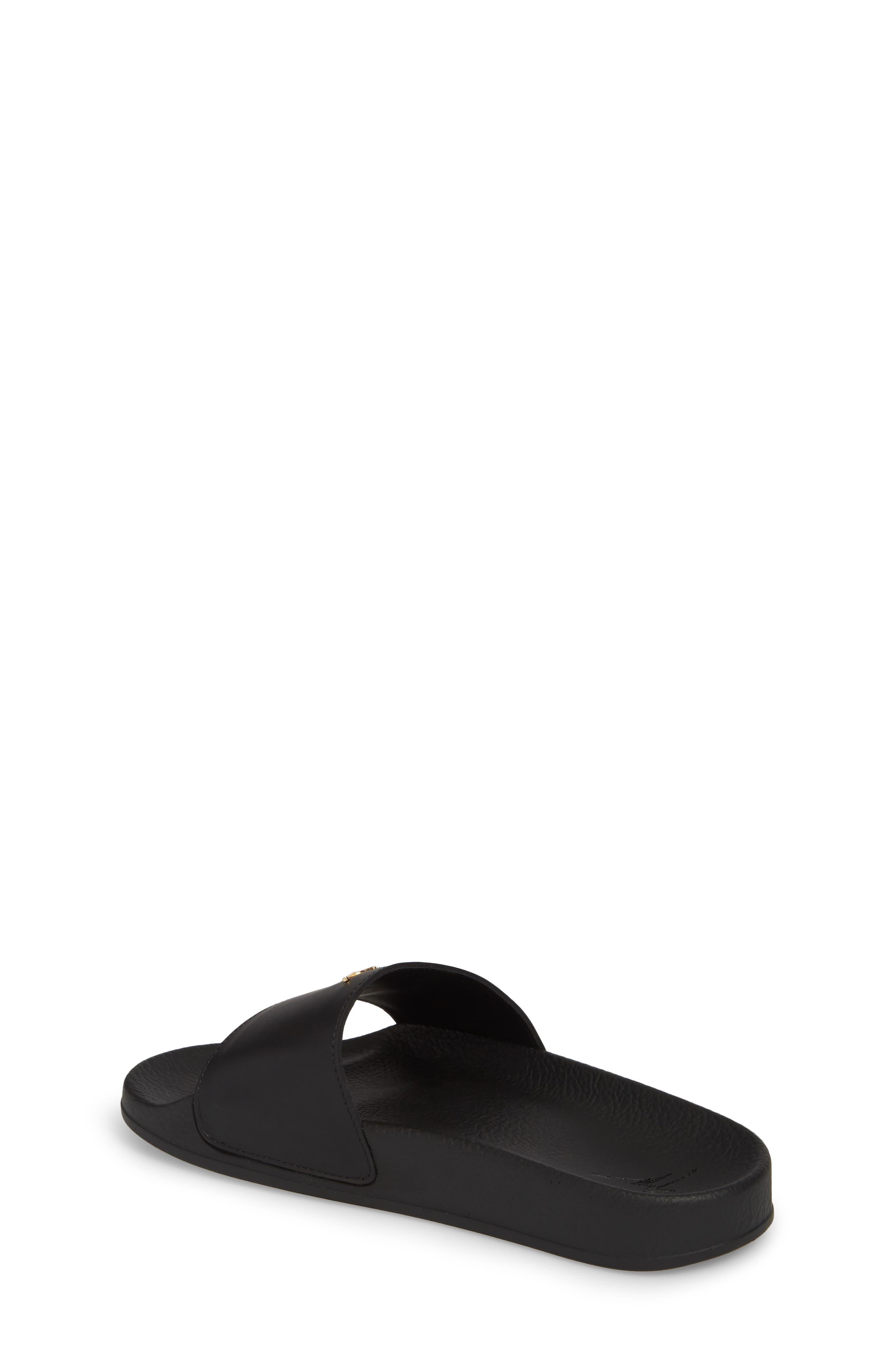 Birel Slide Sandal,                             Alternate thumbnail 2, color,                             Black Leather