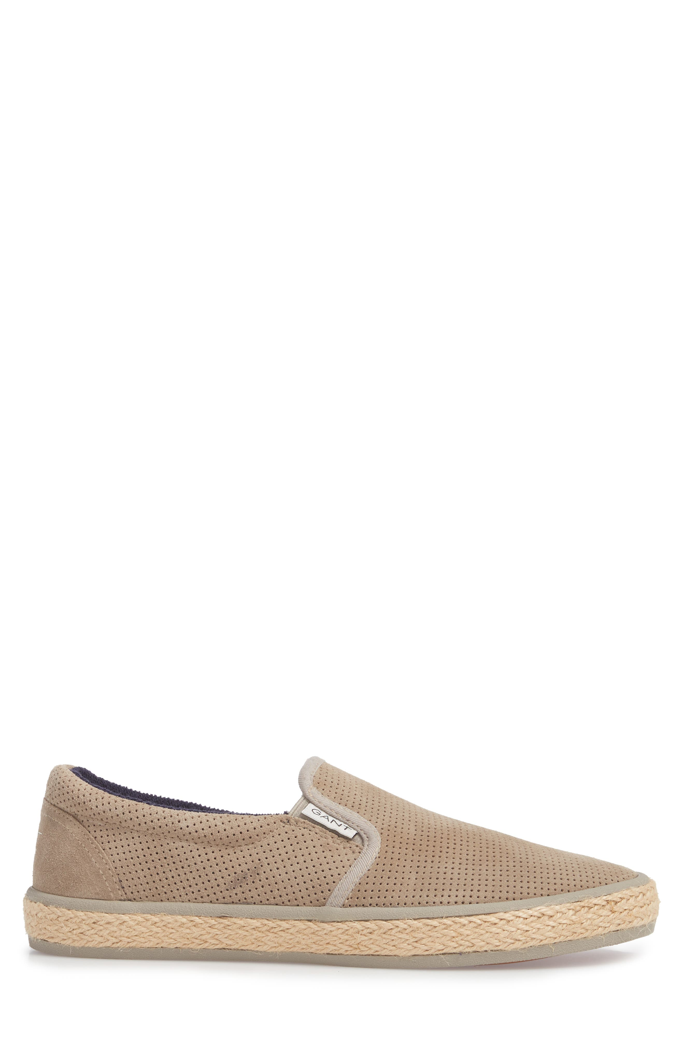 Master Perforated Slip-On Sneaker,                             Alternate thumbnail 3, color,                             Cashew Brown