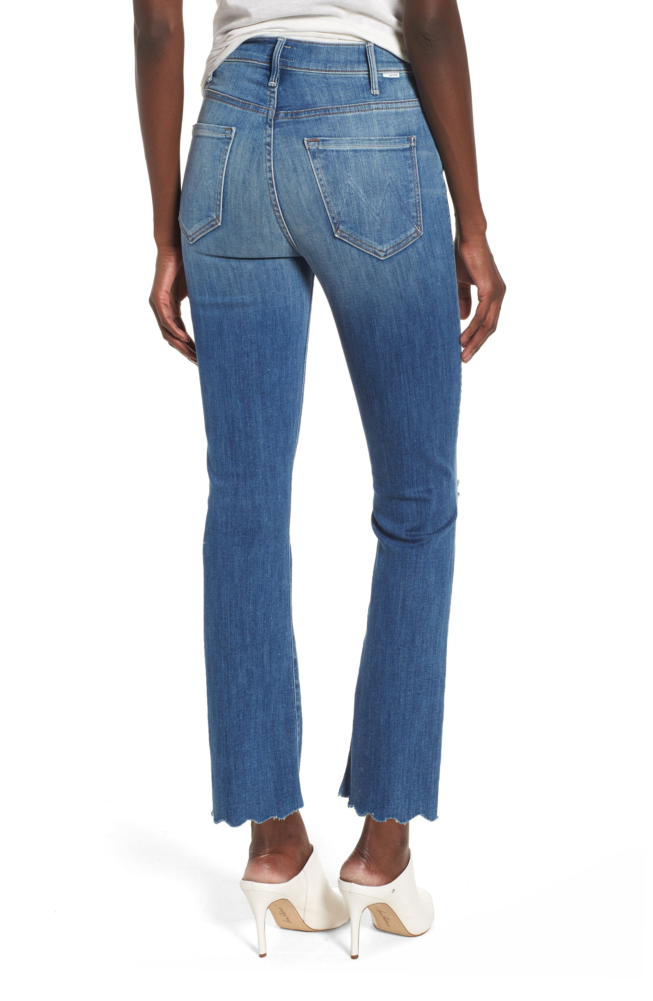 The Hustler High Waist Chew Hem Ankle Jeans,                             Alternate thumbnail 2, color,                             Mums The Word
