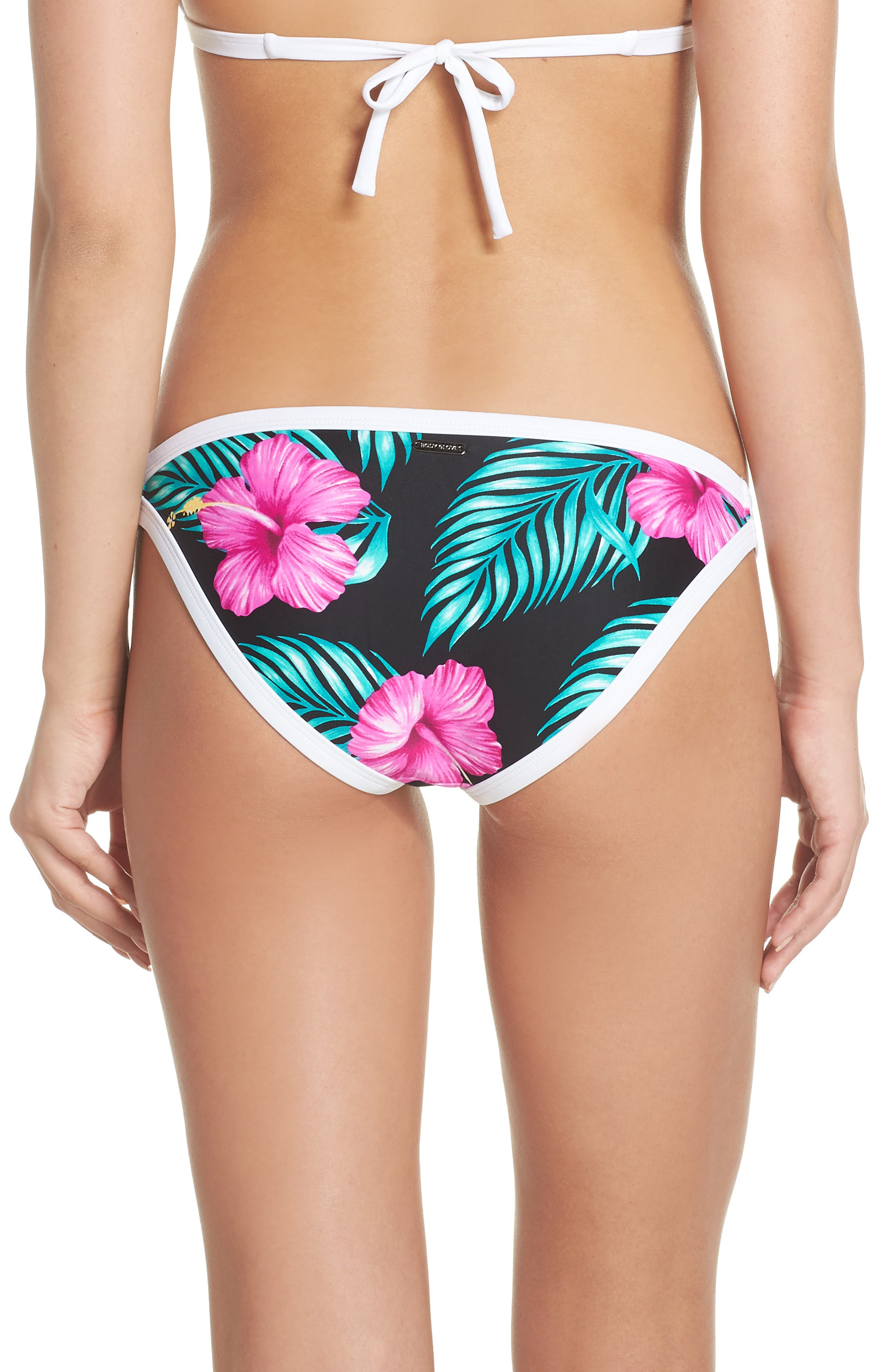 Molokai Hipster Bikini Bottoms,                             Alternate thumbnail 2, color,                             Black