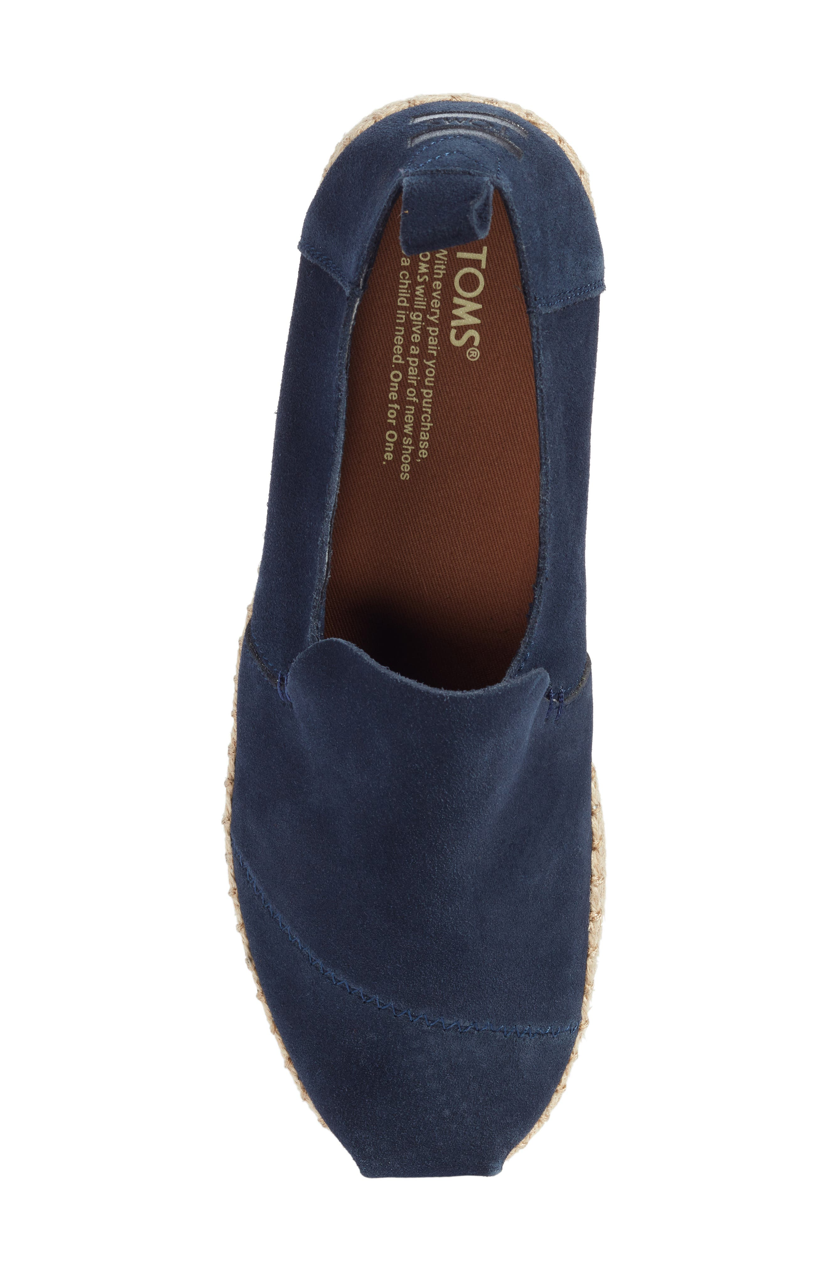 Deconstructed Alpargata,                             Alternate thumbnail 5, color,                             Navy Suede