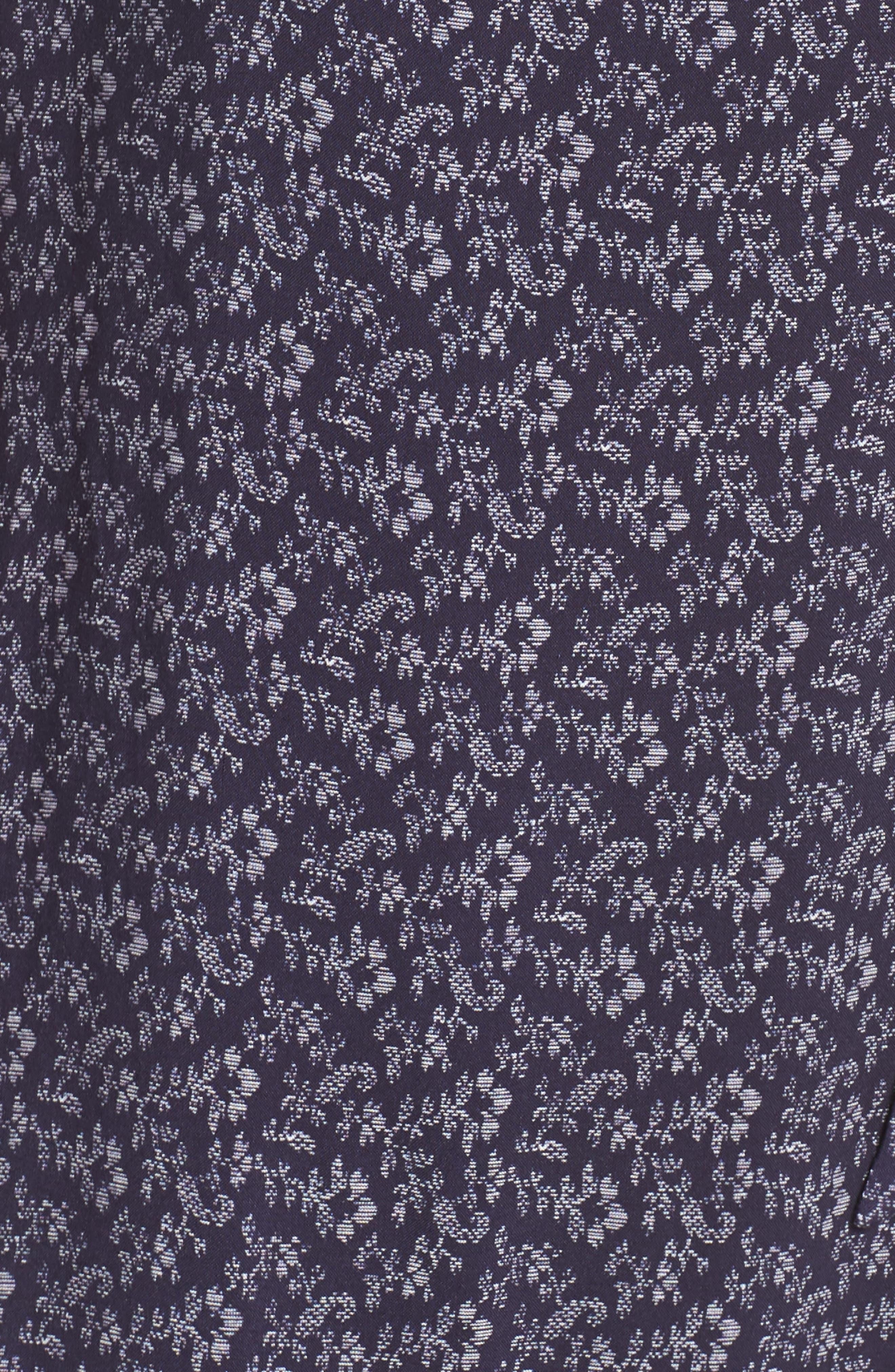 Regina Floral Print Maxi Dress,                             Alternate thumbnail 6, color,                             Parisian Night / Papyrus
