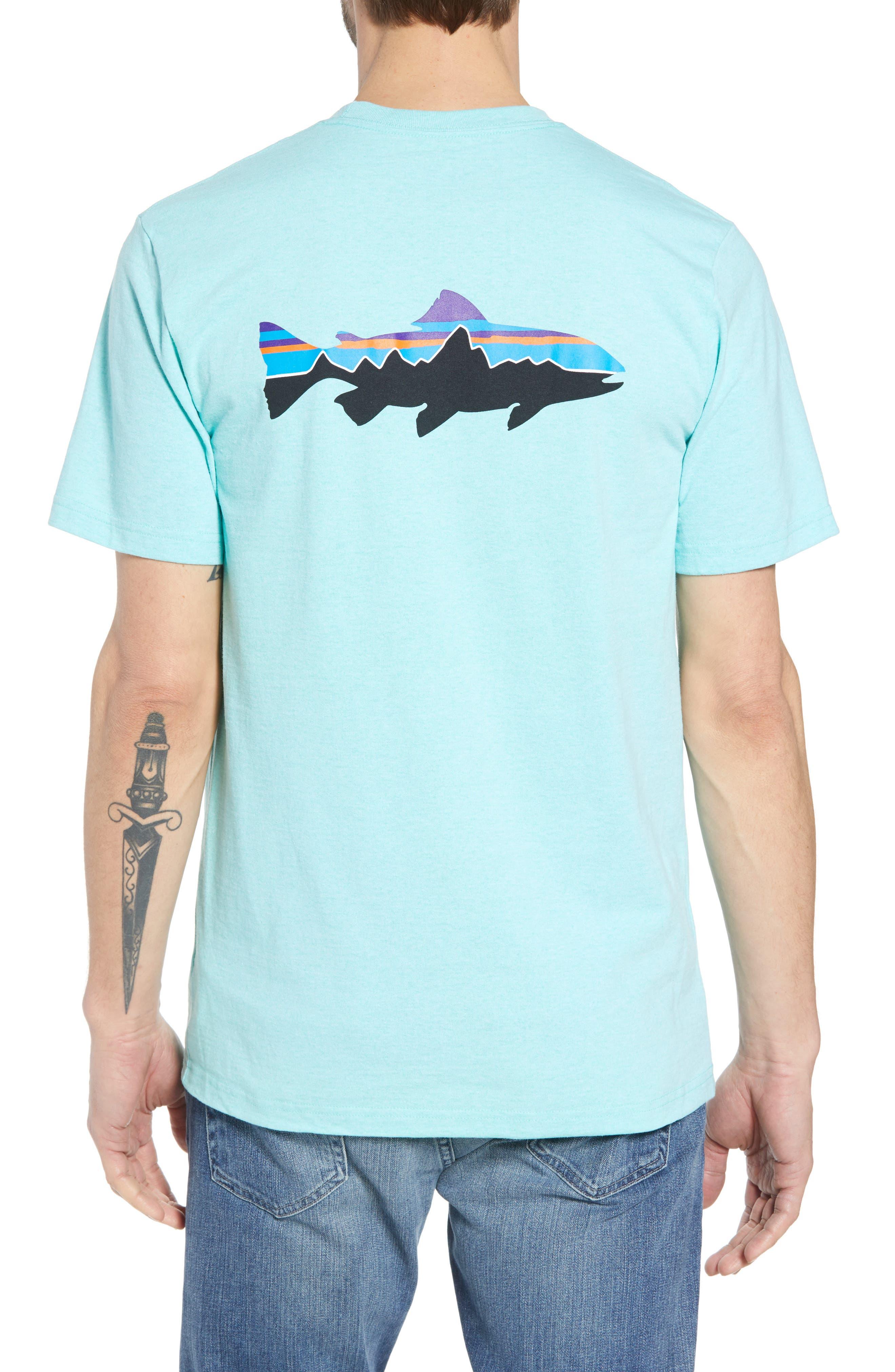 Fitz Roy Trout Crewneck T-Shirt,                             Alternate thumbnail 2, color,                             Bend Blue