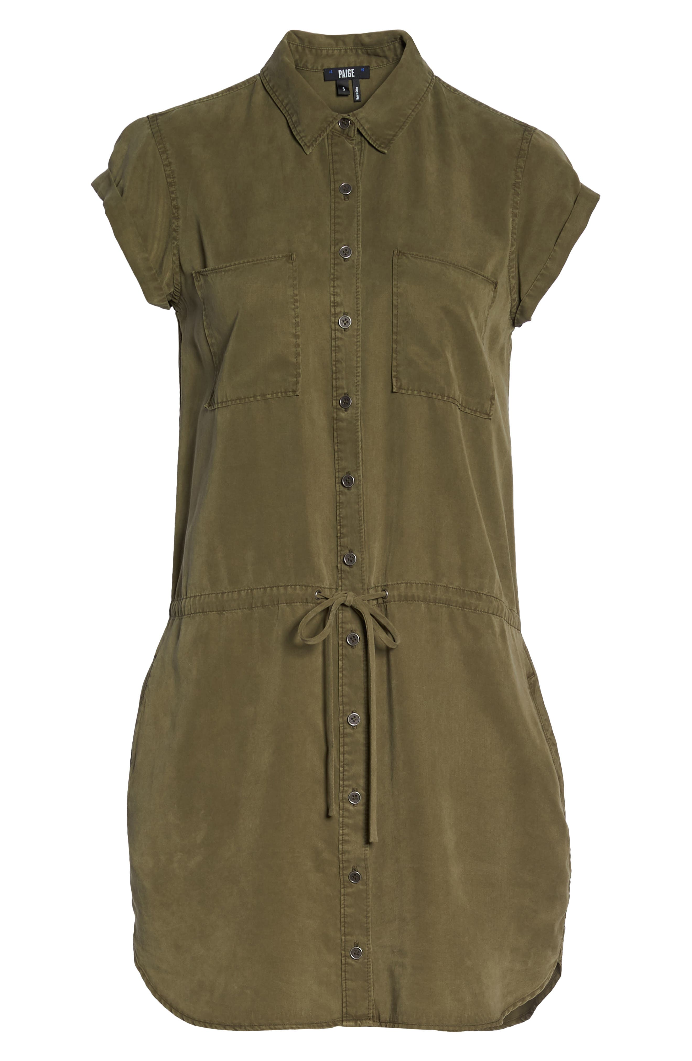 Mila Shirtdress,                             Alternate thumbnail 7, color,                             Desert Olive