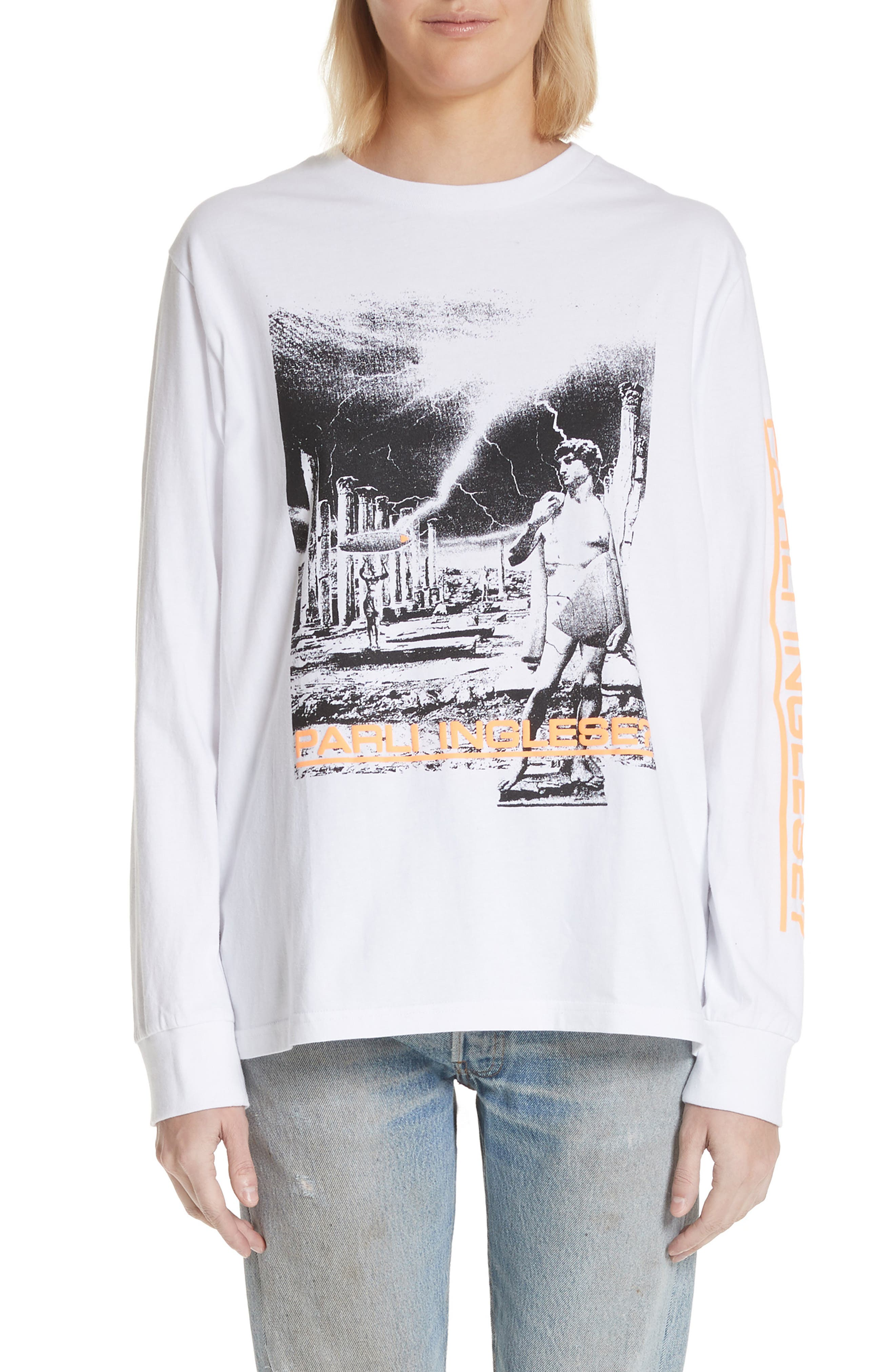 Dave Graphic Tee,                             Main thumbnail 1, color,                             White