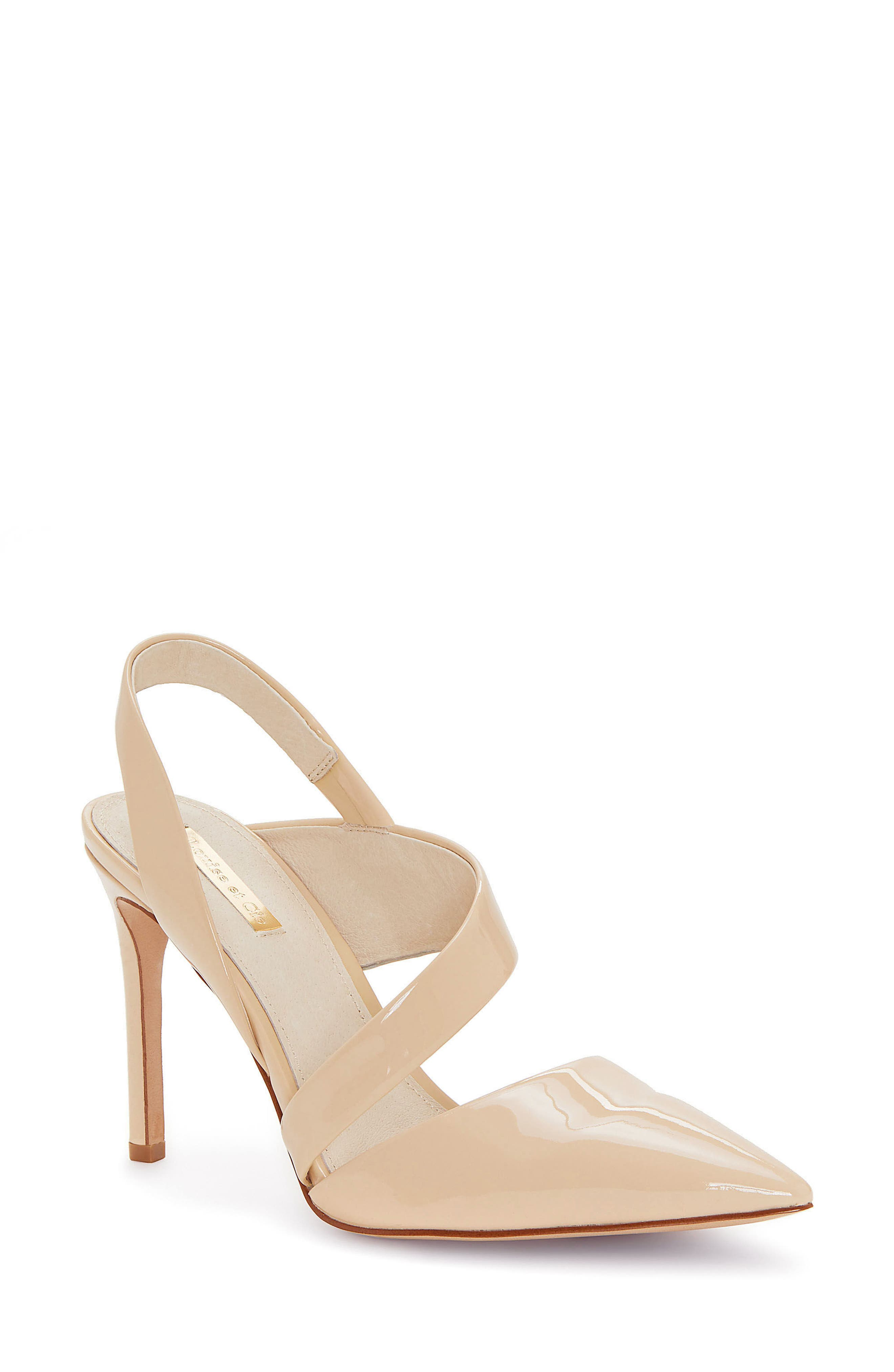 Jerry Pointy Toe Slingback Pump,                         Main,                         color, Odessa Patent