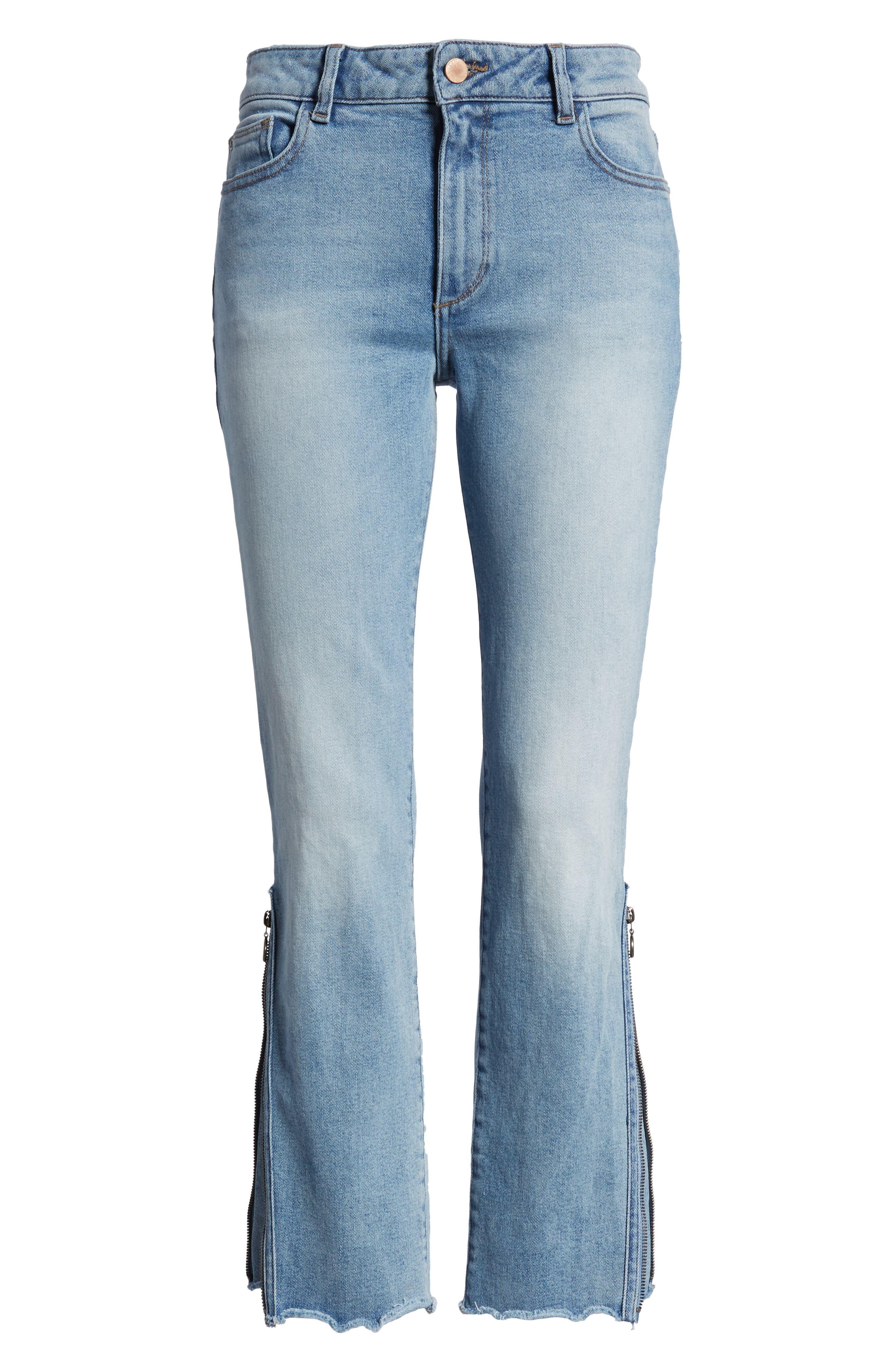 Mara Instasculpt Ankle Straight Leg Jeans,                             Alternate thumbnail 6, color,                             Marina