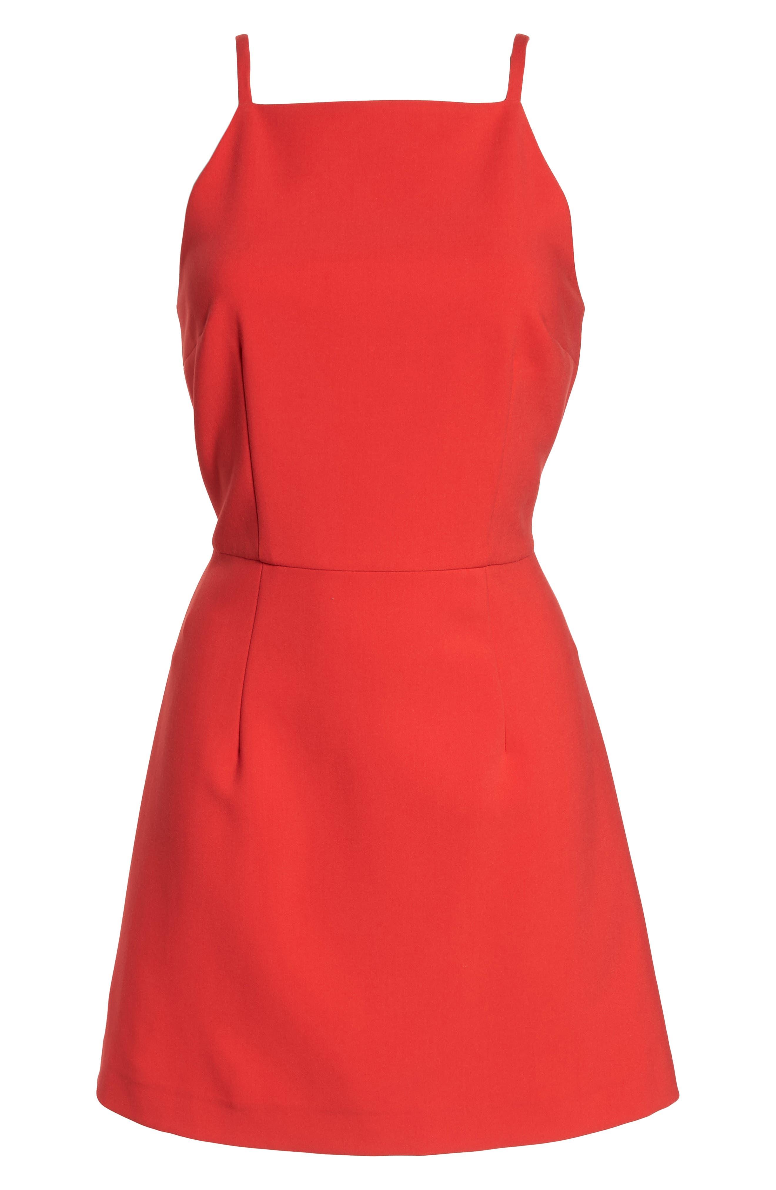 Whisper Light Sheath Dress,                             Alternate thumbnail 7, color,                             Shanghai Red