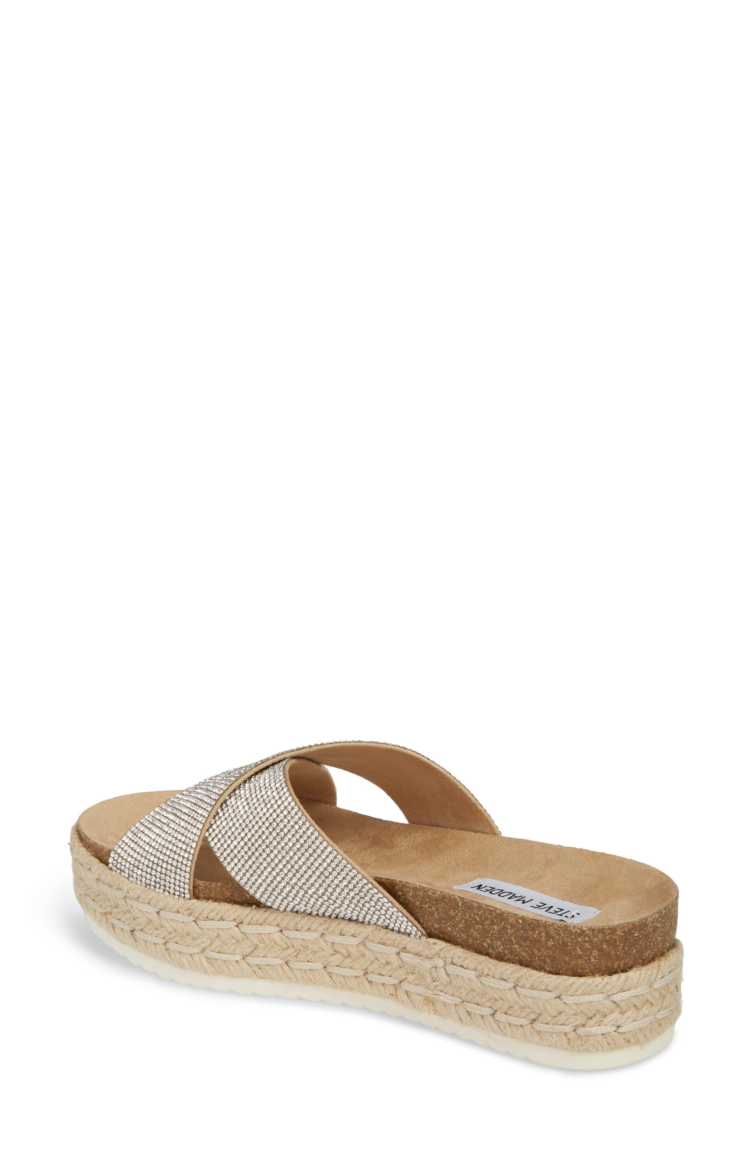 Arran-R Platform Espadrille Sandal,                             Alternate thumbnail 2, color,                             Silver