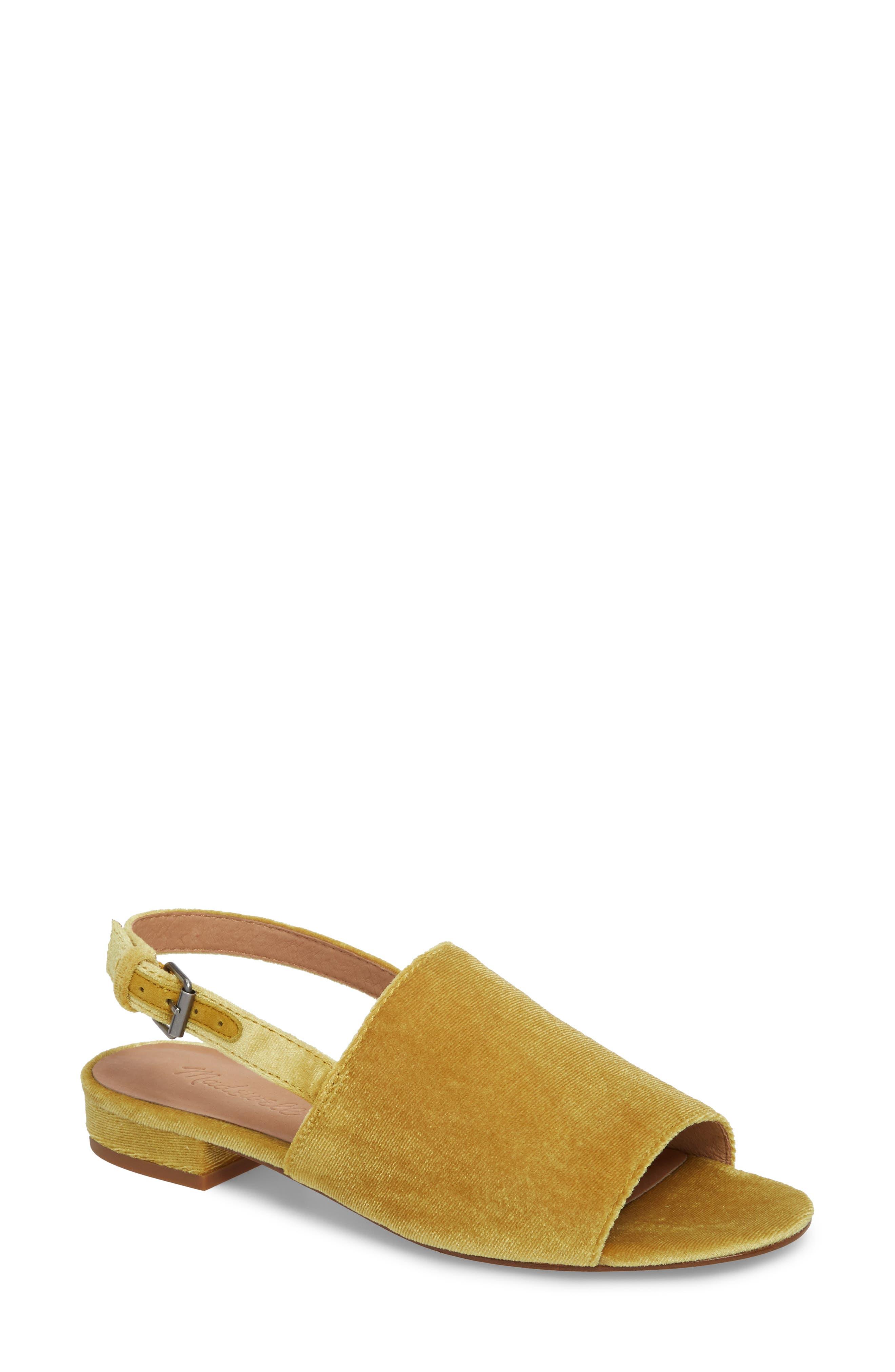 Noelle Slingback Sandal,                         Main,                         color, Savannah Moss Velvet
