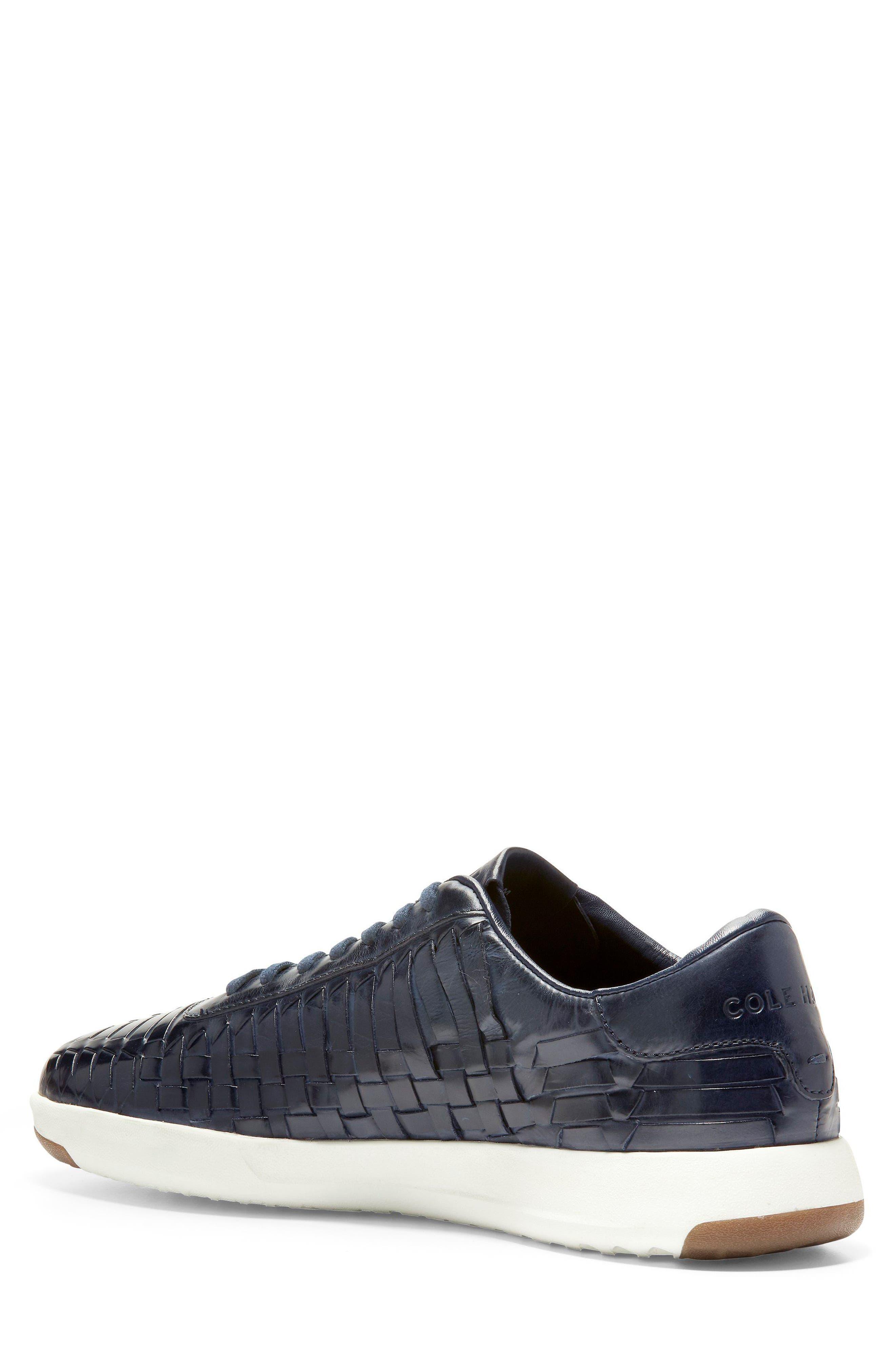 GrandPro Tennis Huarache Sneaker,                             Alternate thumbnail 2, color,                             Navy Woven Burnish