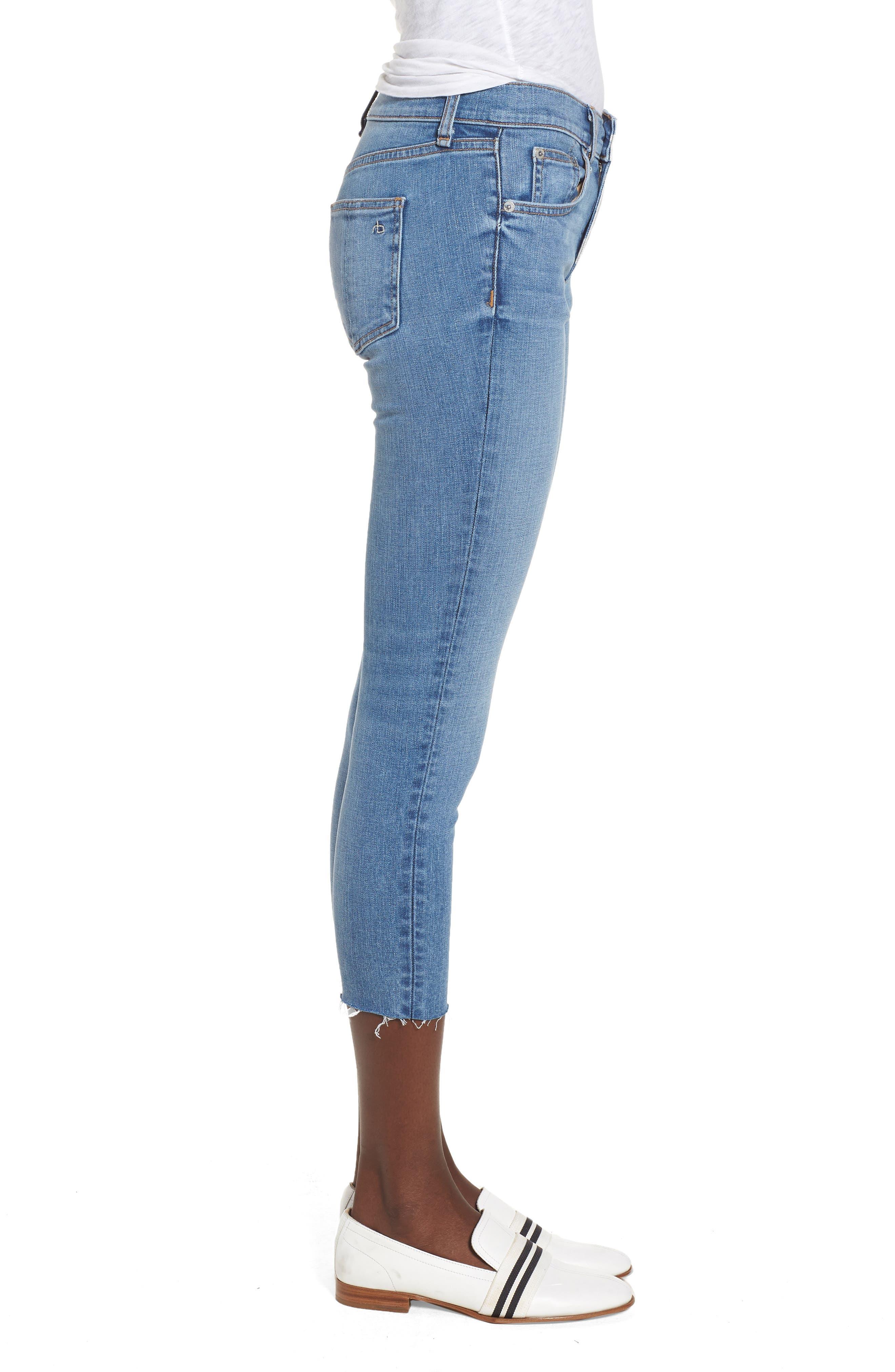 Crop Skinny Jeans,                             Alternate thumbnail 3, color,                             Levee