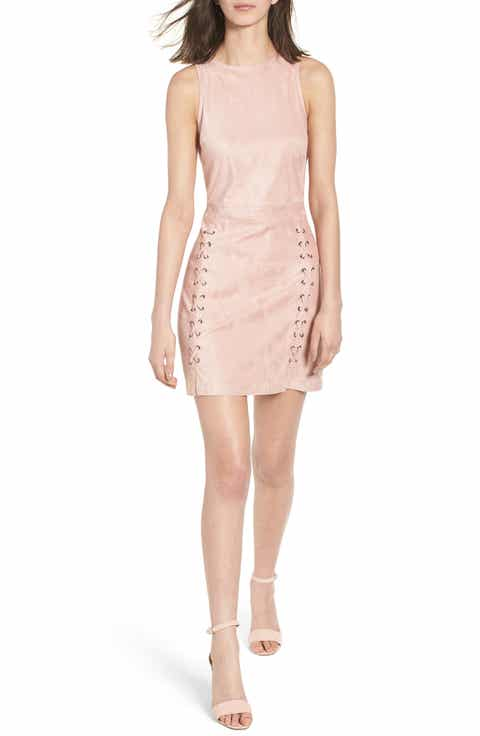 cupcakes and cashmere Daton Faux Suede Dress