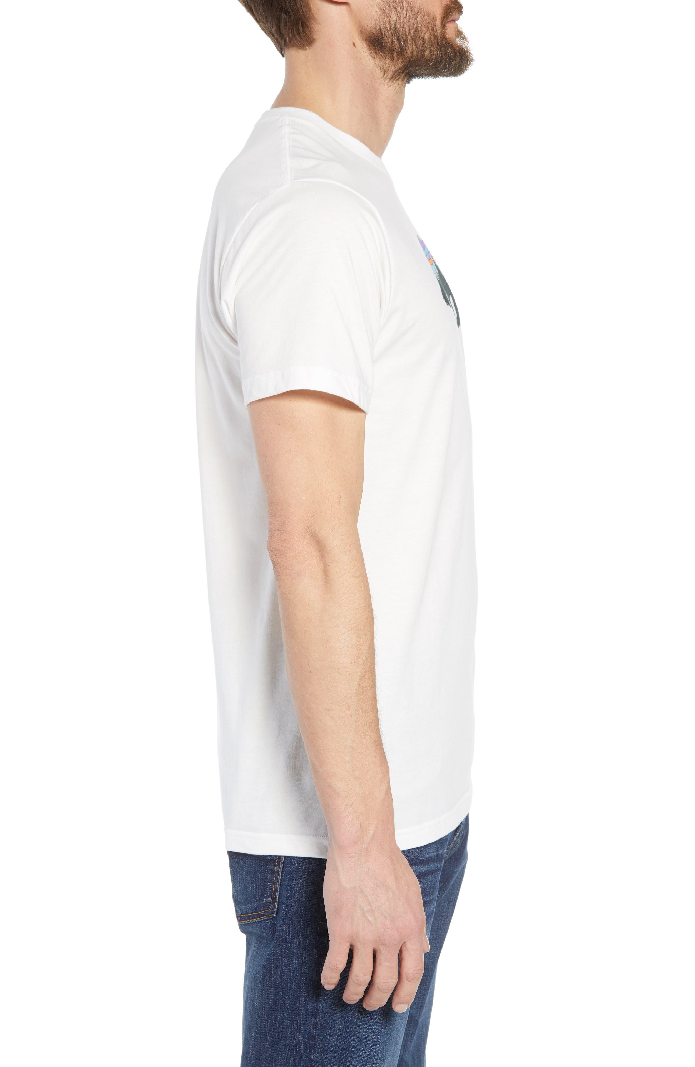 Fitz Roy Bear Crewneck T-Shirt,                             Alternate thumbnail 3, color,                             White