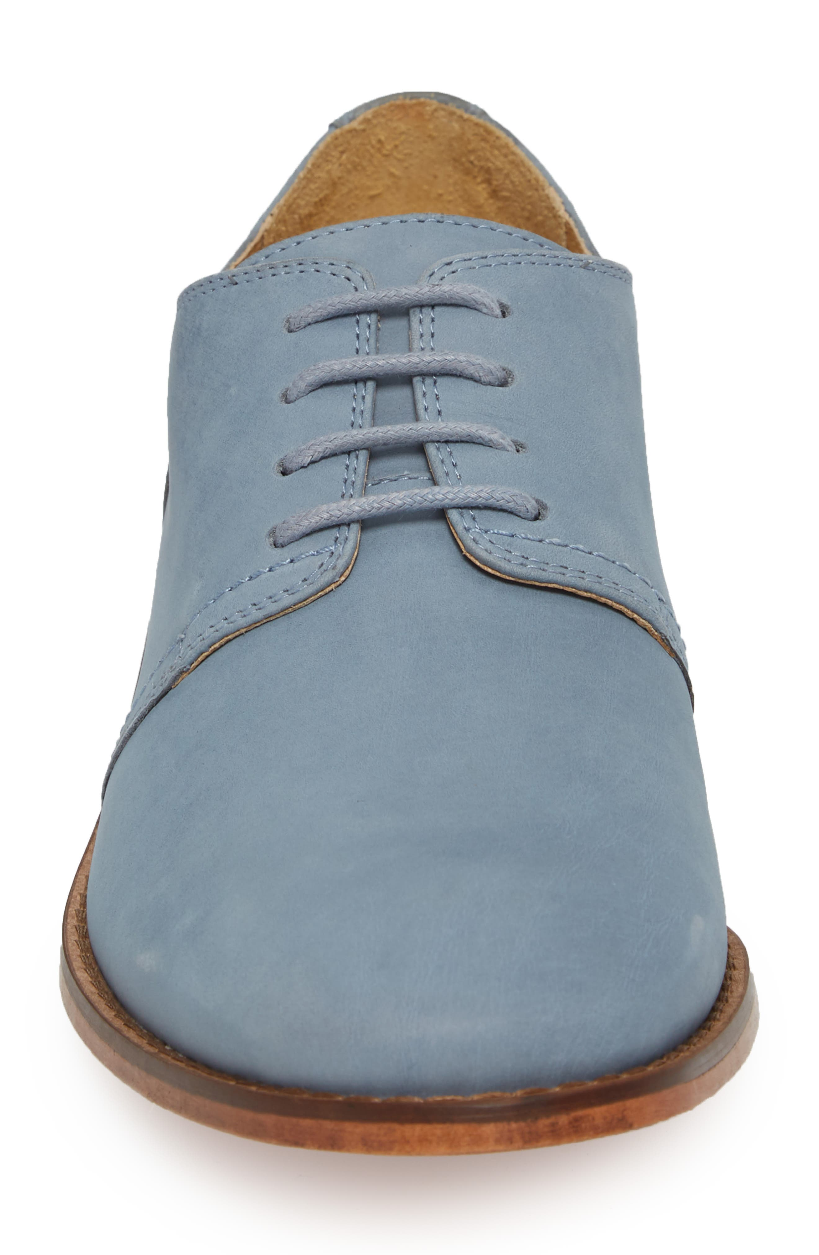 Caan Plain Toe Derby,                             Alternate thumbnail 4, color,                             Flint Stone Leather