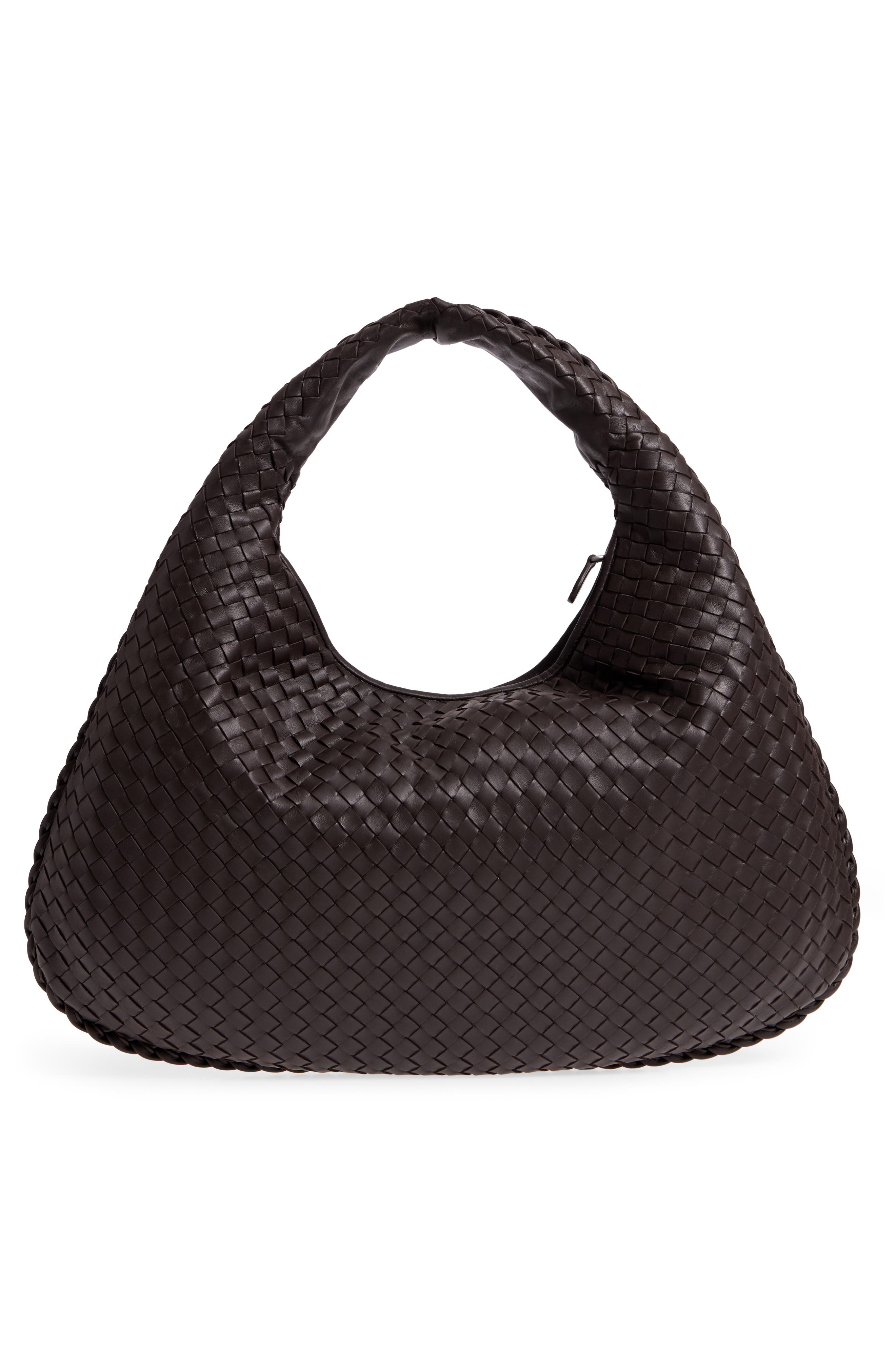 Large Veneta Leather Hobo,                             Alternate thumbnail 3, color,                             2074 Espresso