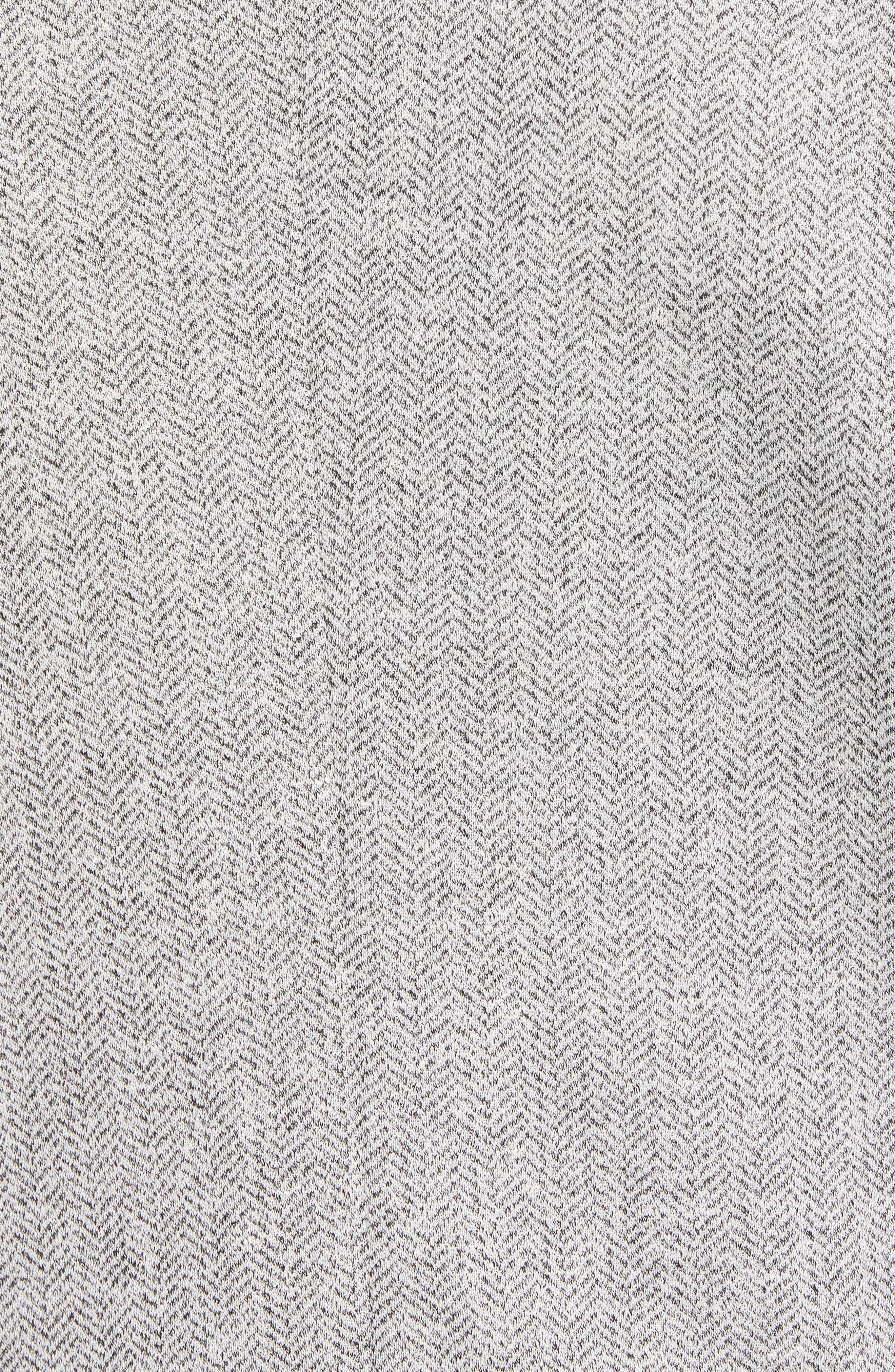 Alternate Image 5  - Bugatchi Regular Fit Herringbone Cotton & Linen Blazer