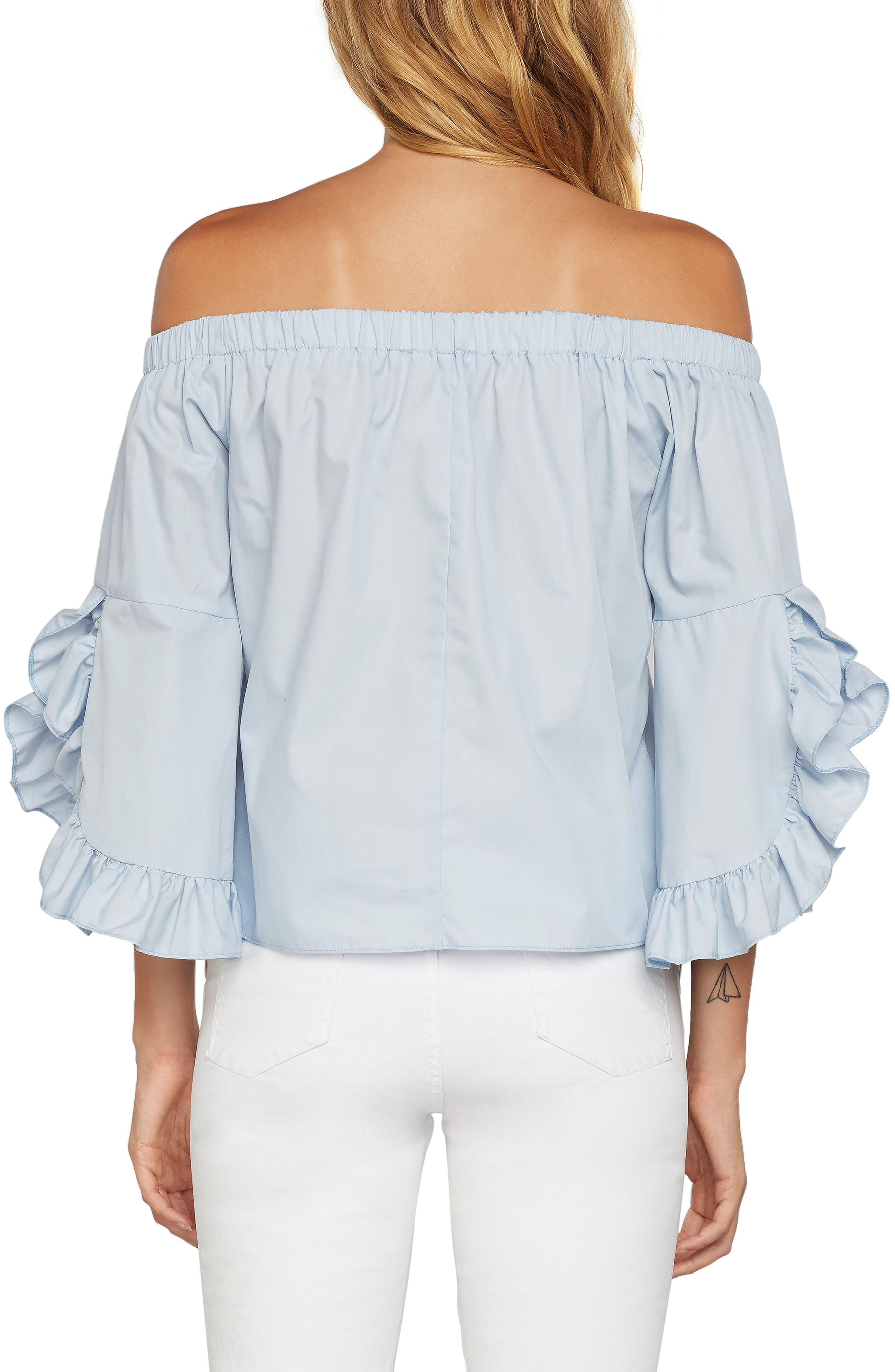 Miley Off the Shoulder Top,                             Alternate thumbnail 2, color,                             Periwinkle