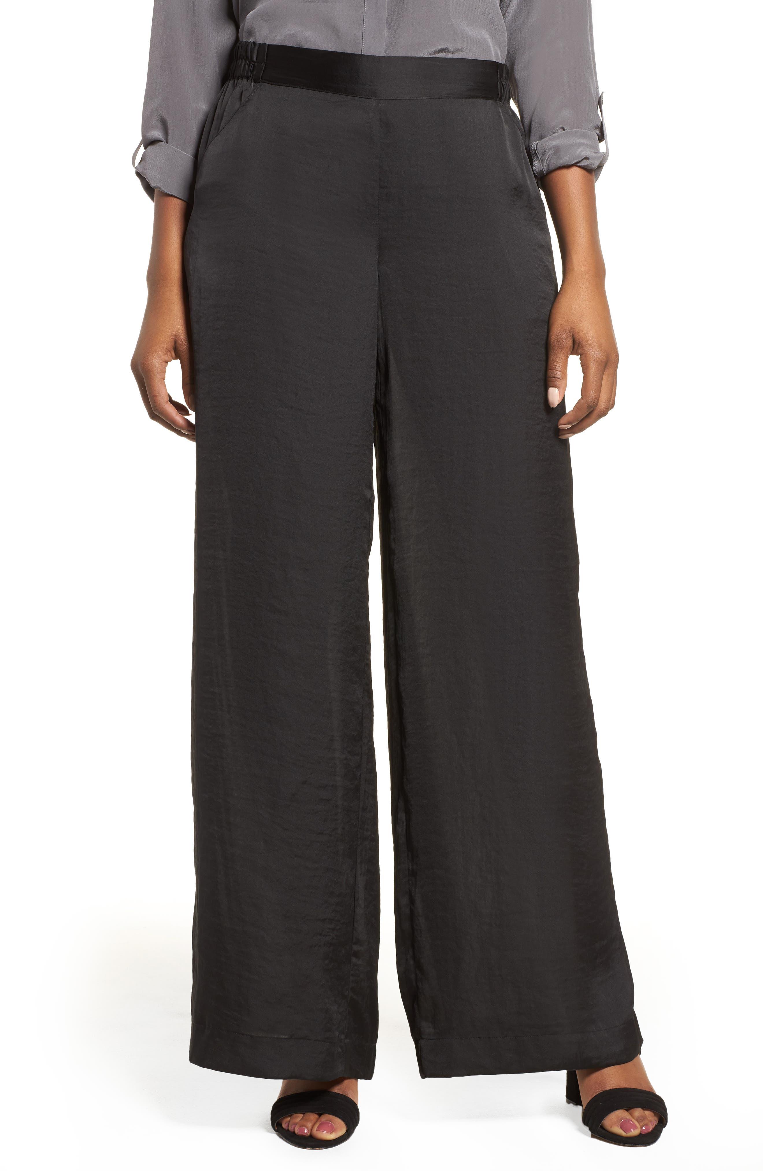 Kenneth Cole Wide Leg Pants,                         Main,                         color, Black