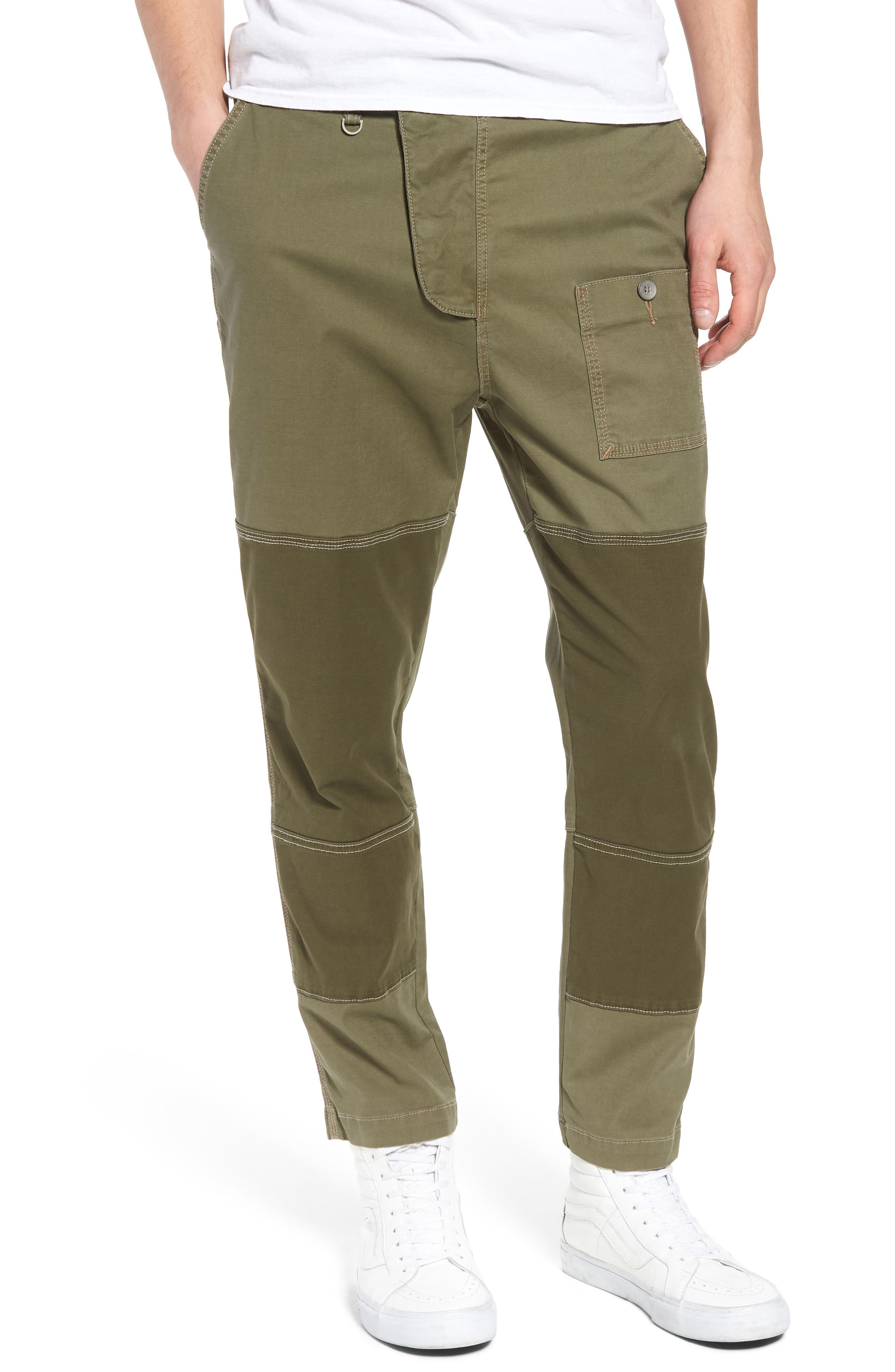 Slouchy Slim Fit Cargo Pants,                         Main,                         color, Army Green 1