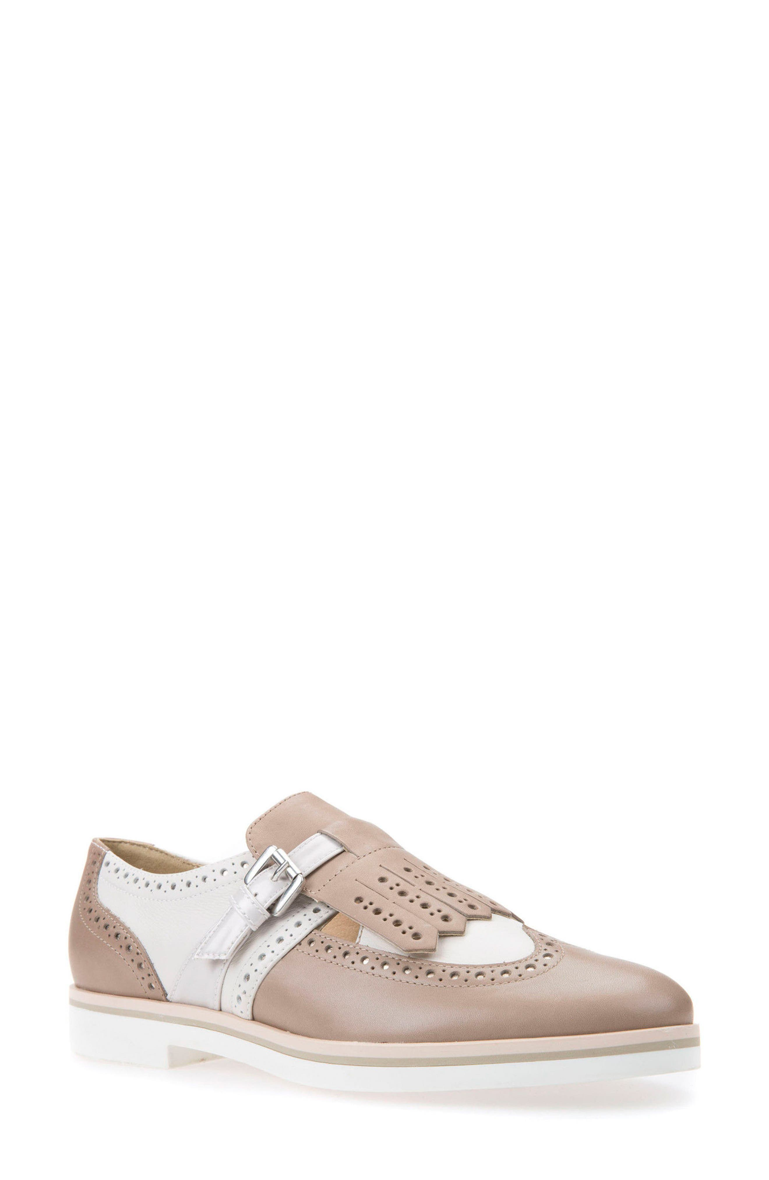Janalee Cutout Loafer,                         Main,                         color, Sand Leather