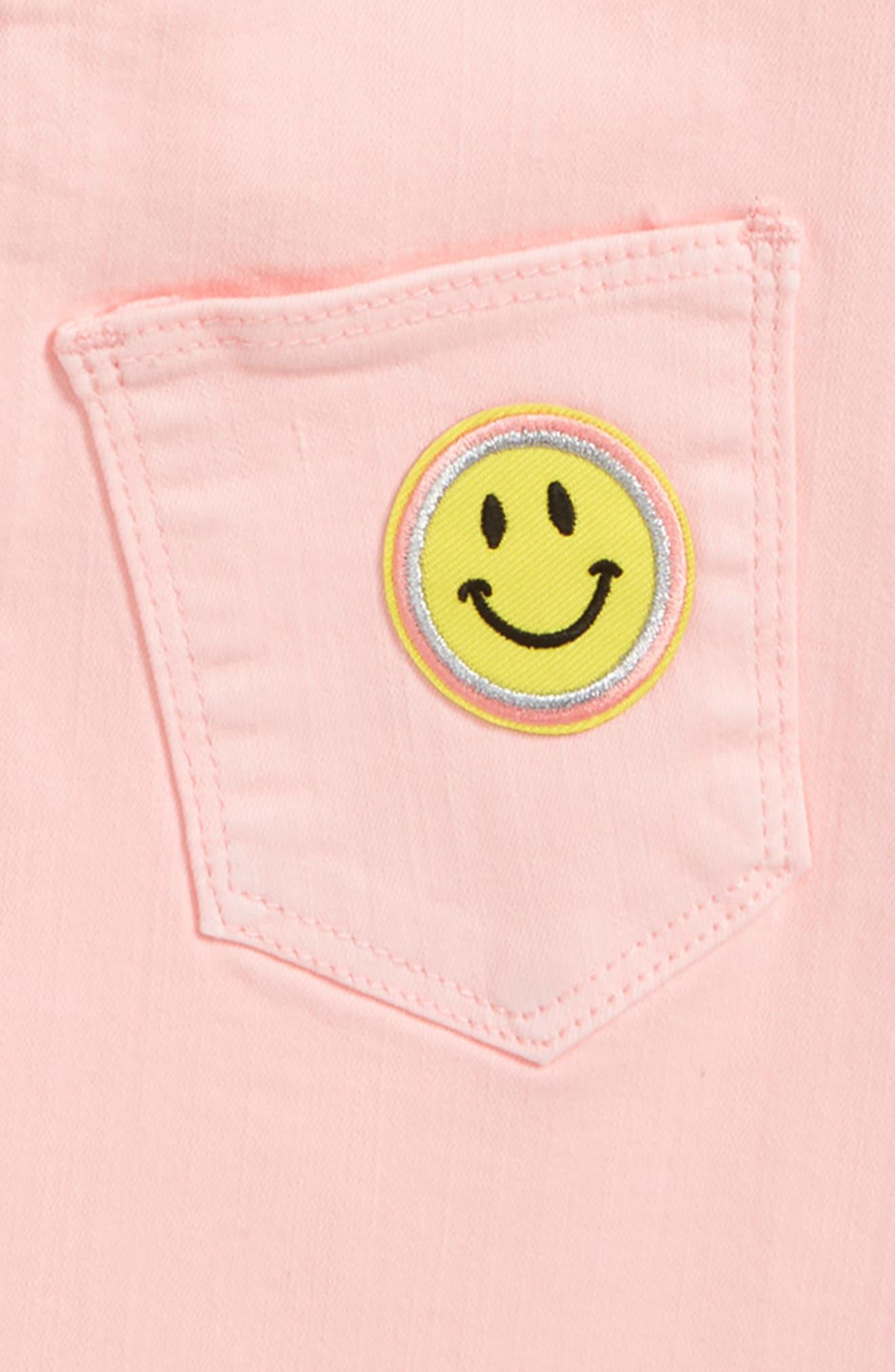 Flamingo Denim Skirt,                             Alternate thumbnail 3, color,                             Pink