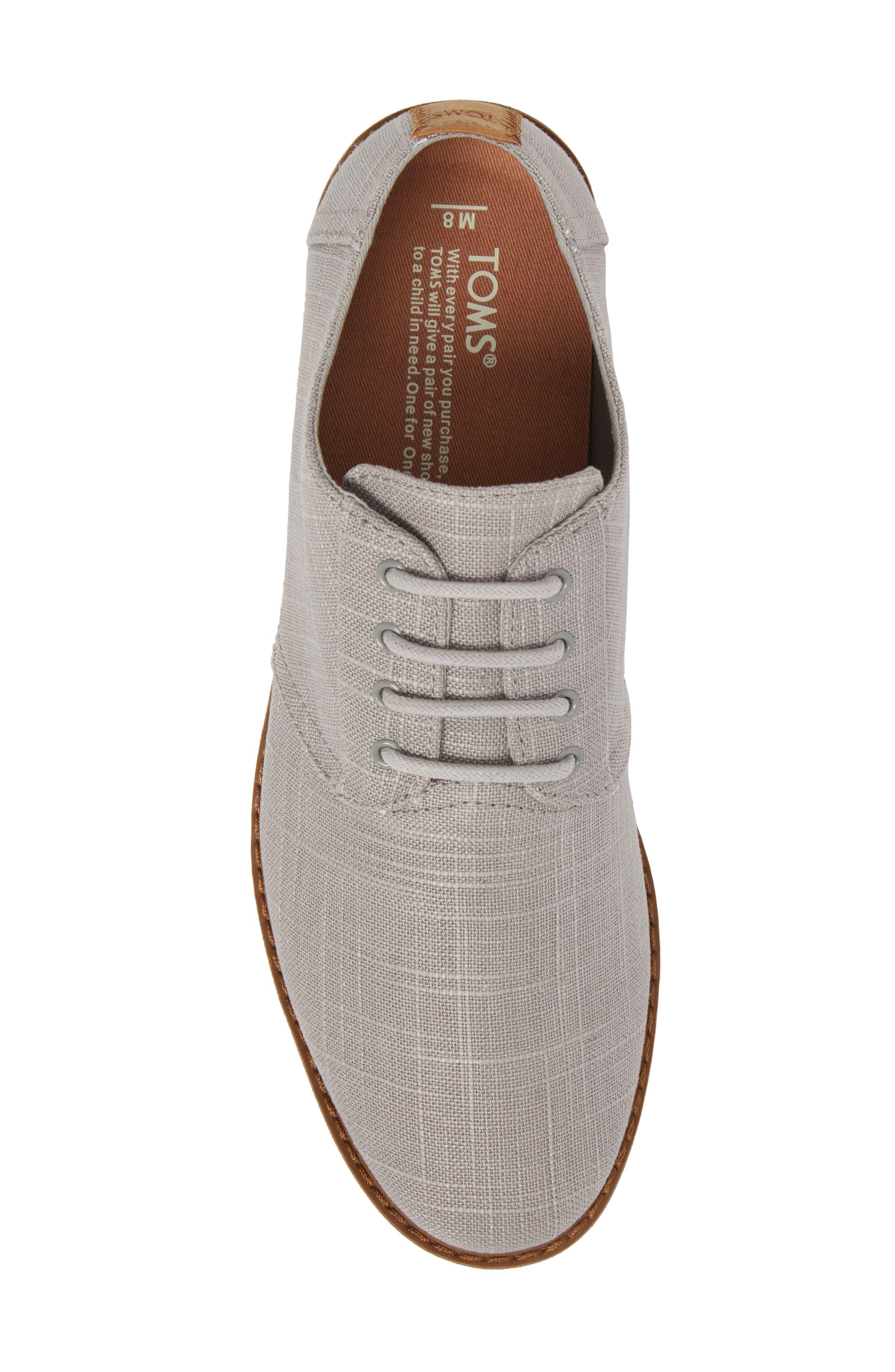 Preston Plain Toe Derby,                             Alternate thumbnail 5, color,                             Grey Linen