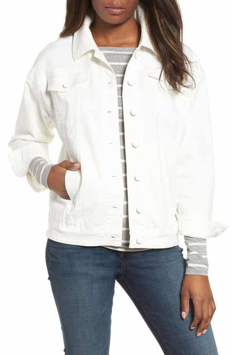 Kenneth Cole New York Relaxed White Denim Jacket