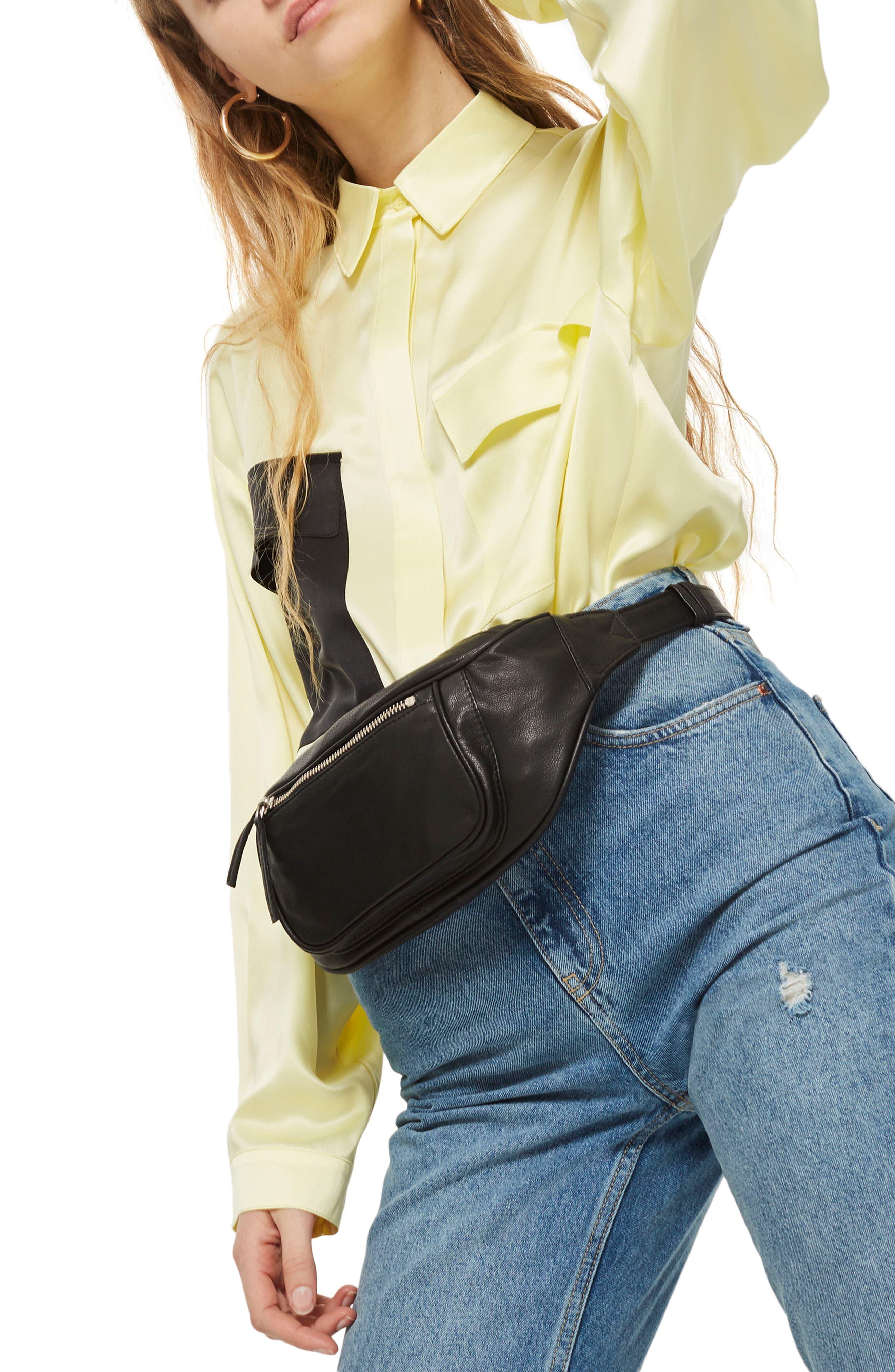 Alternate Image 3  - Topshop Leather Bumbag