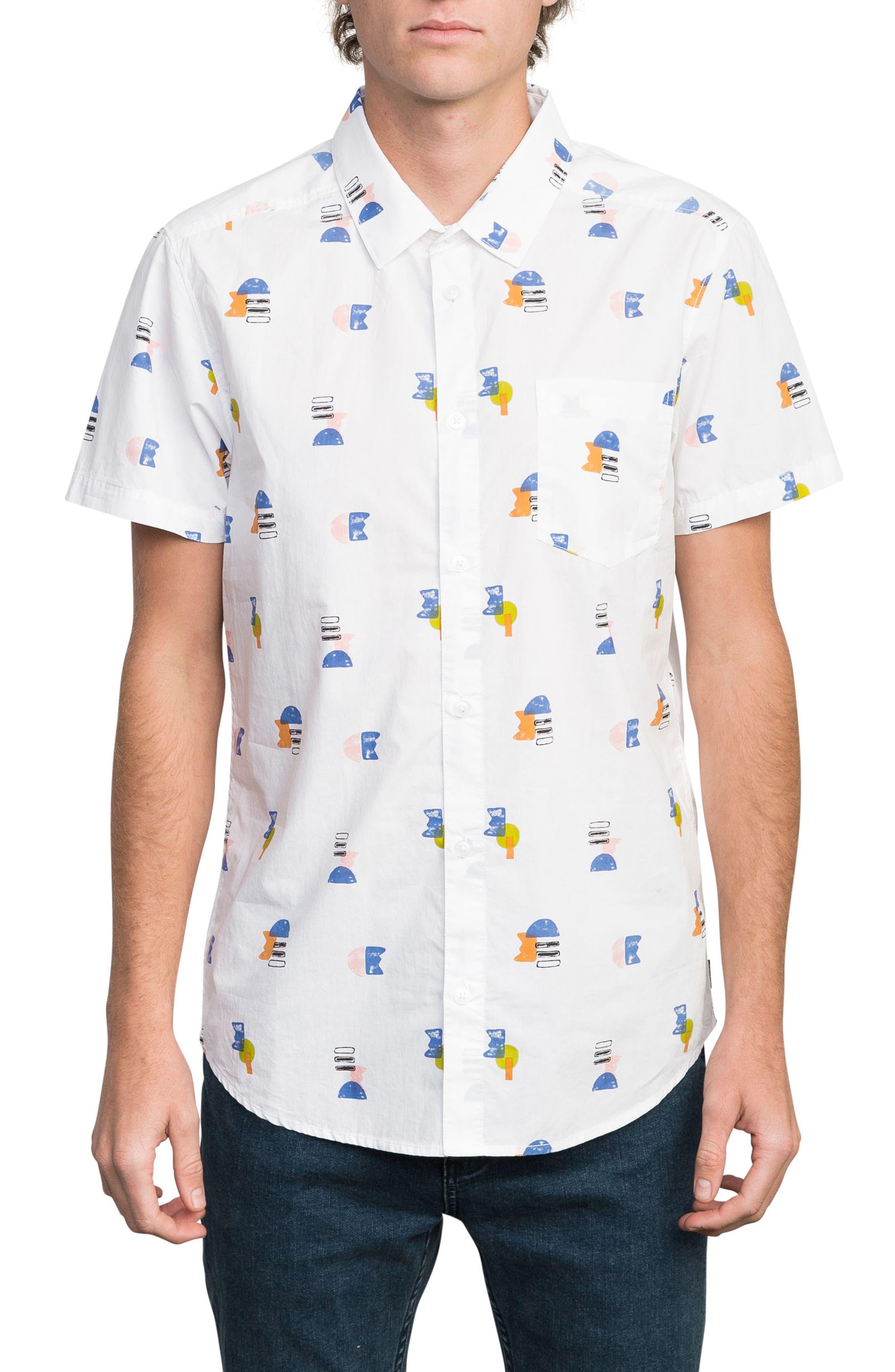 Margo Woven Shirt,                         Main,                         color, White