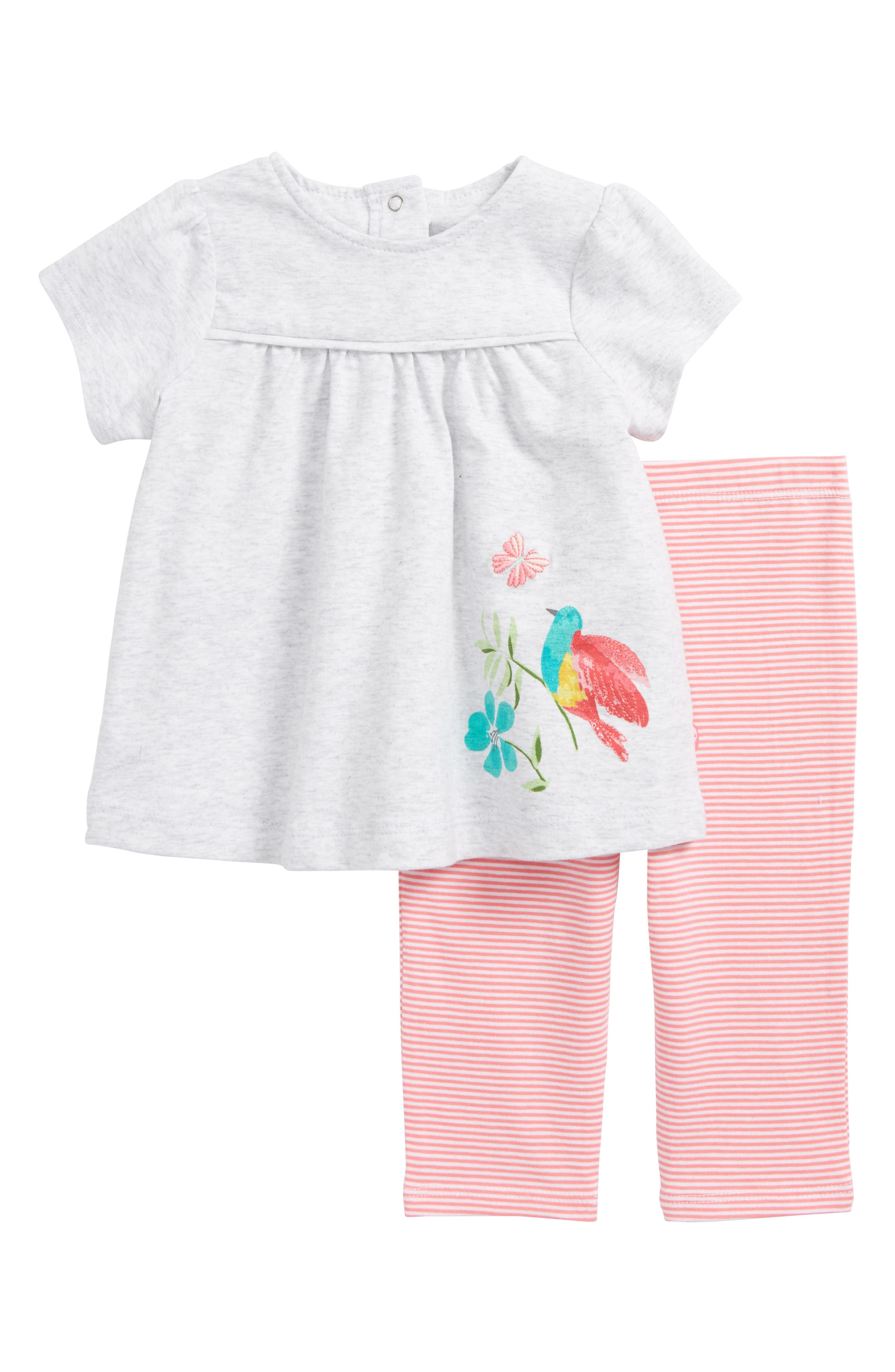 Tropical Tunic & Leggings Set,                             Main thumbnail 1, color,                             Pink Stripe