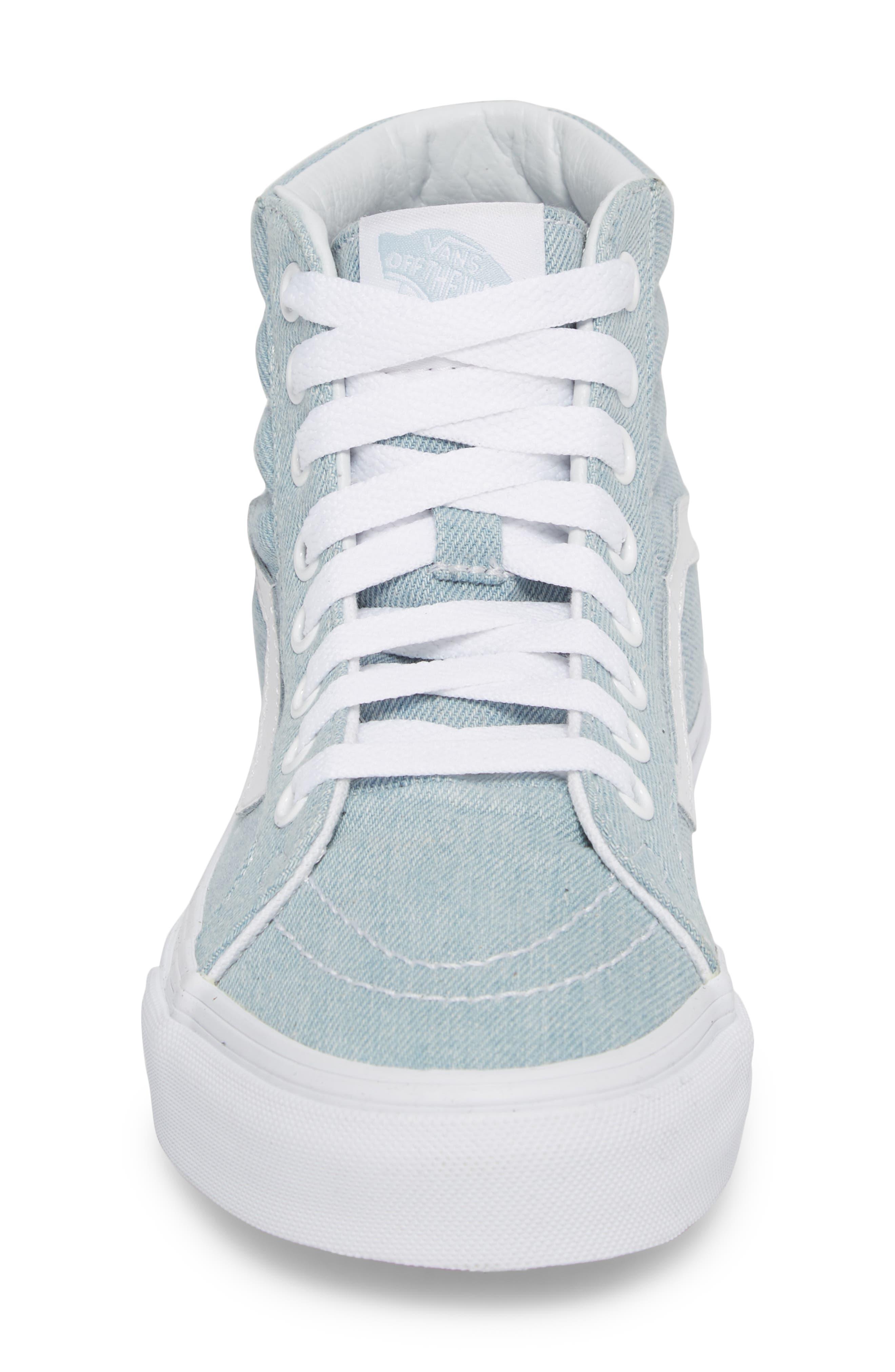 'Sk8-Hi Reissue' Sneaker,                             Alternate thumbnail 4, color,                             Denim Baby Blue