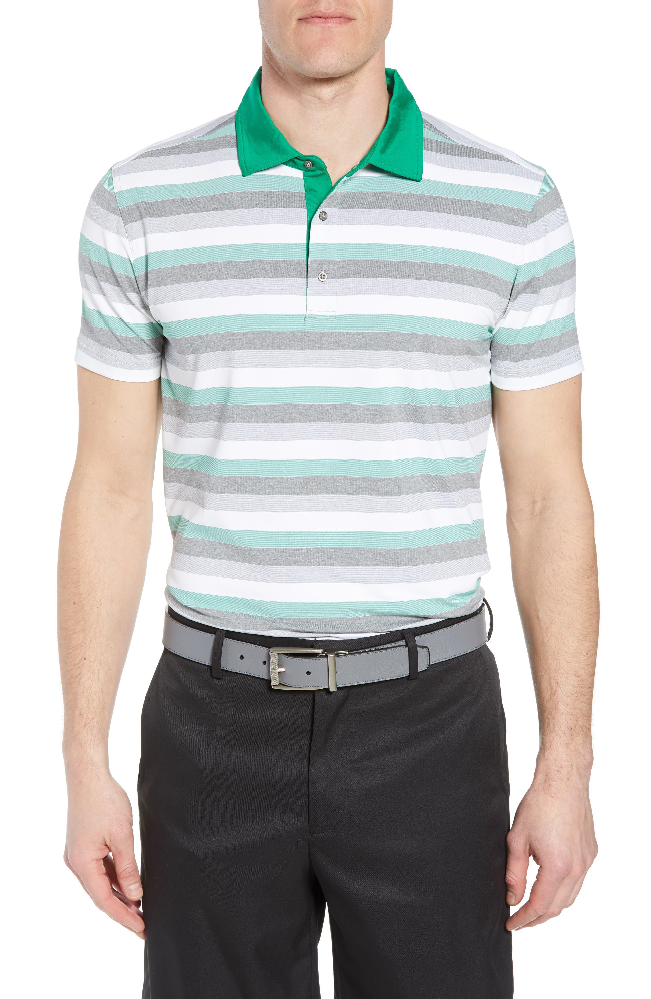 Tech Baylor Stripe Jersey Polo,                         Main,                         color, Kelly