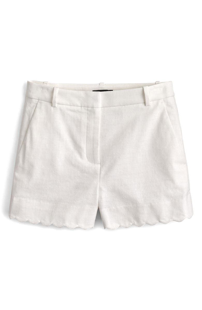 Fiesta Scallop Hem Stretch Cotton Shorts