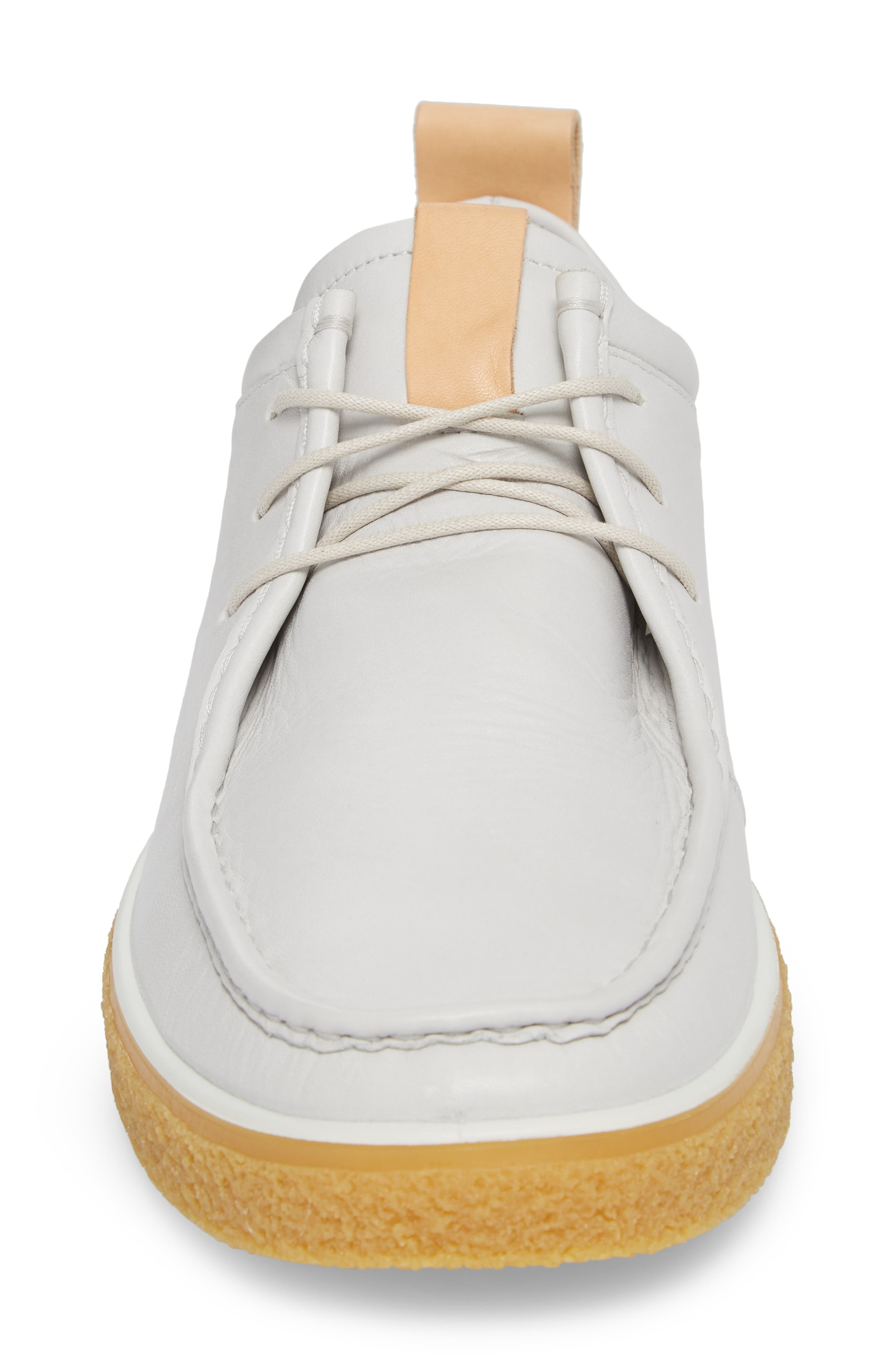 Crepetray Moc Toe Low Chukka Boot,                             Alternate thumbnail 4, color,                             Off White Leather
