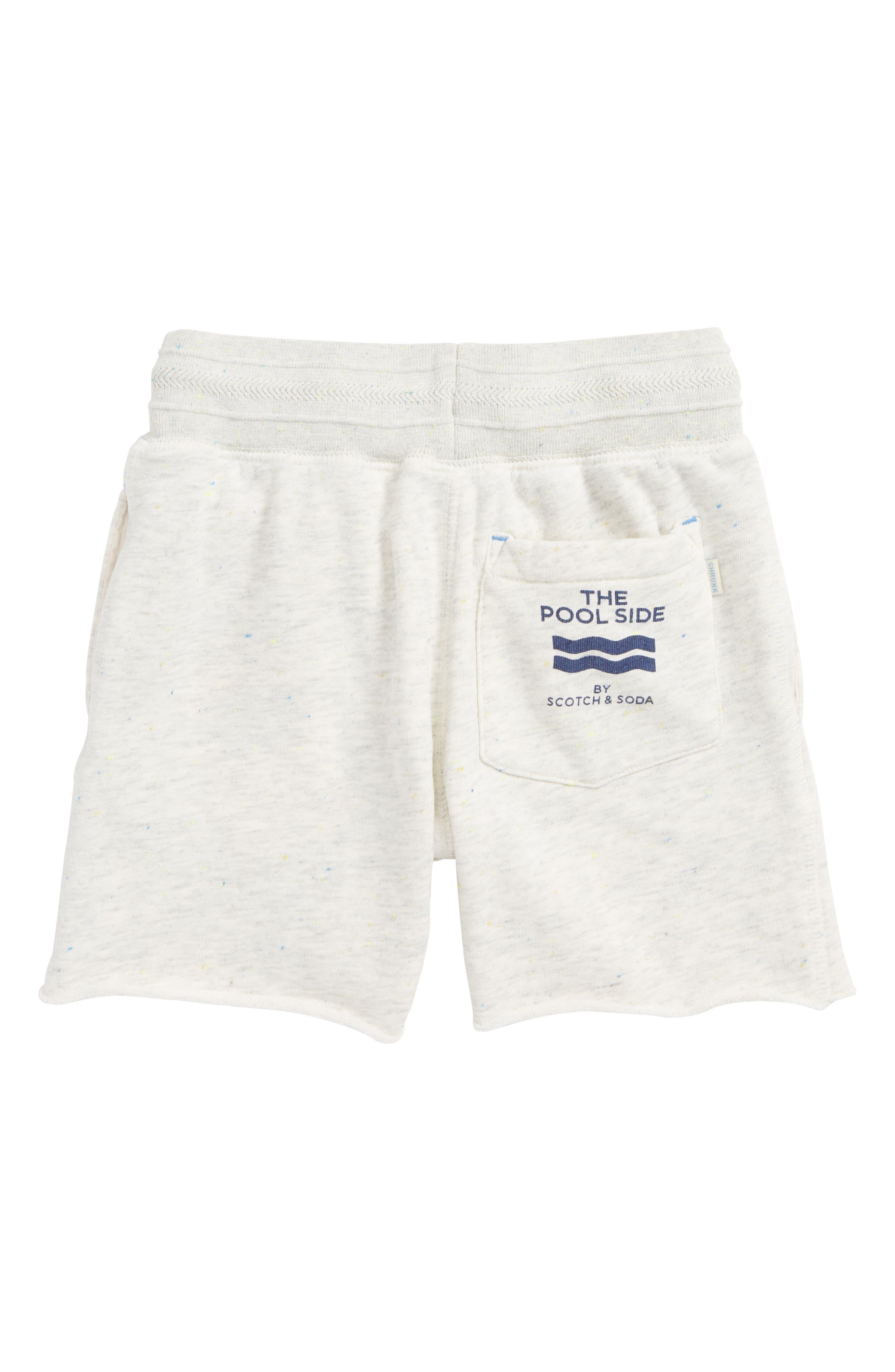 Pool Side Knit Shorts,                             Alternate thumbnail 2, color,                             Ecru