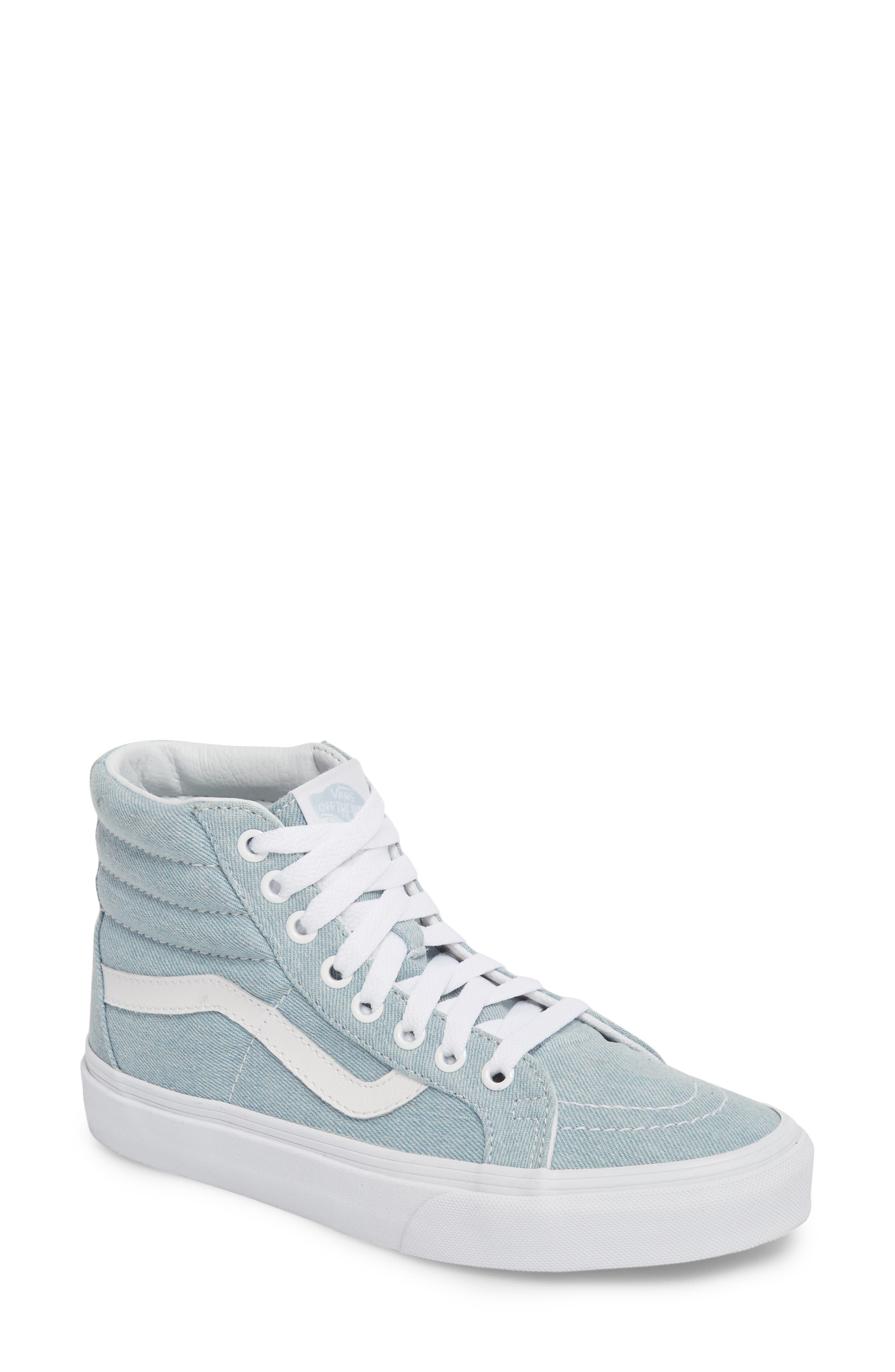 'Sk8-Hi Reissue' Sneaker,                             Main thumbnail 1, color,                             Denim Baby Blue