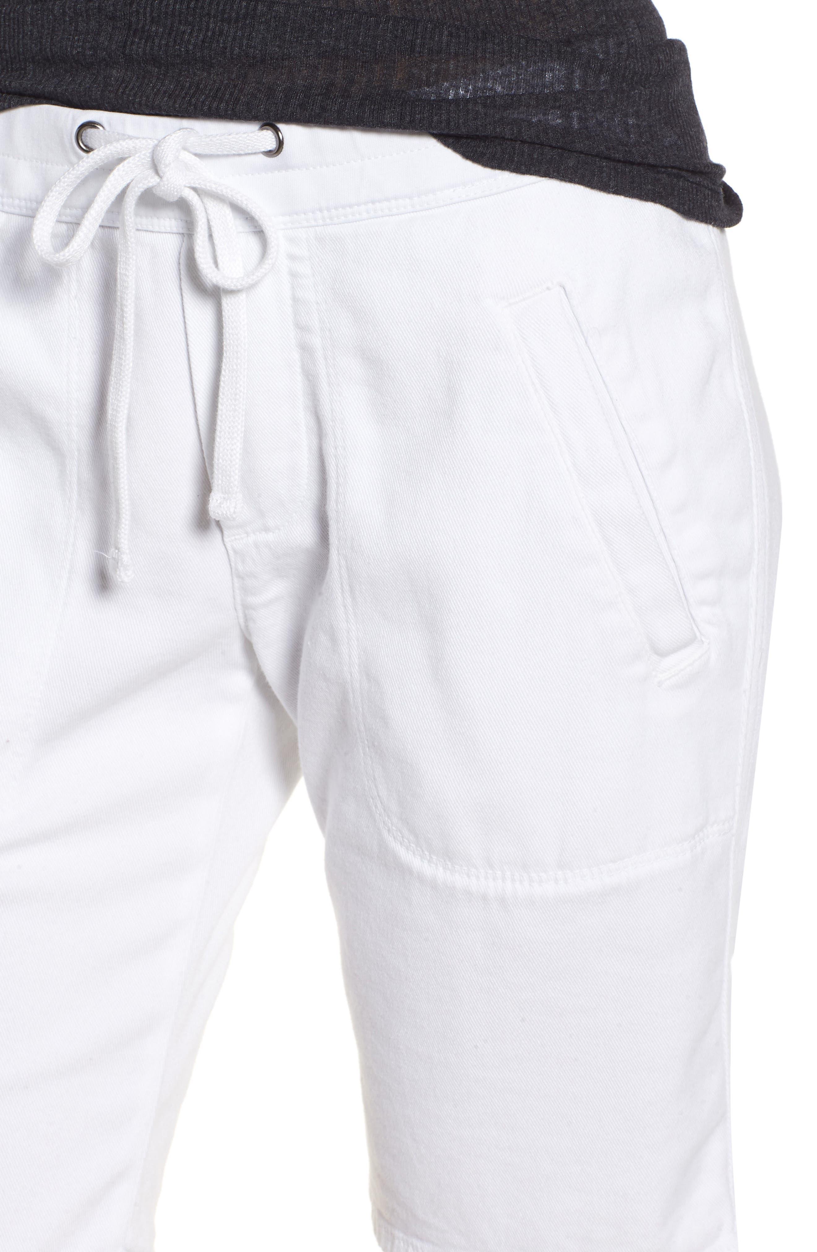 Soft Drape Utility Shorts,                             Alternate thumbnail 4, color,                             White