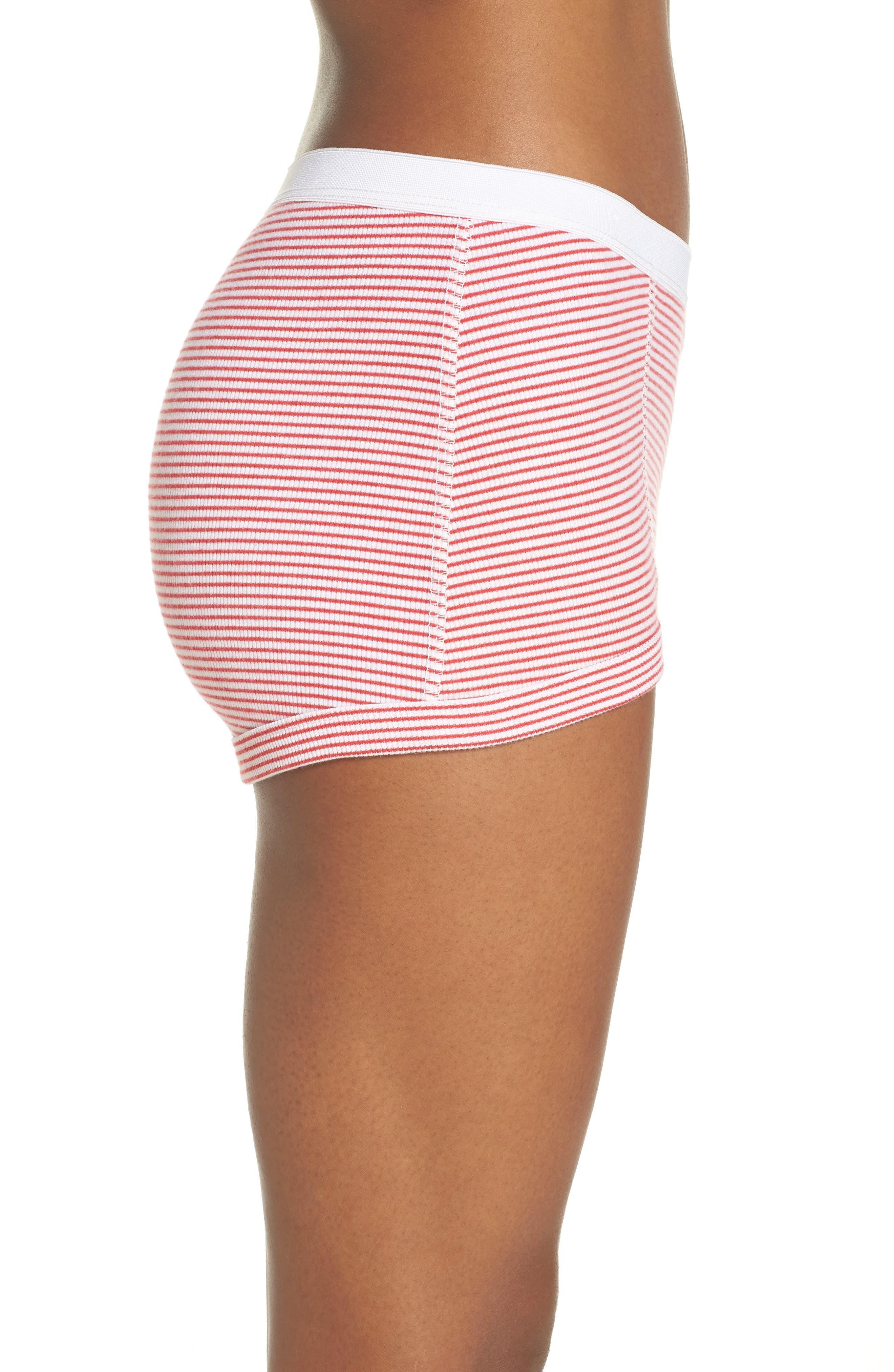 Peony Shorts,                             Alternate thumbnail 3, color,                             Red Stripe
