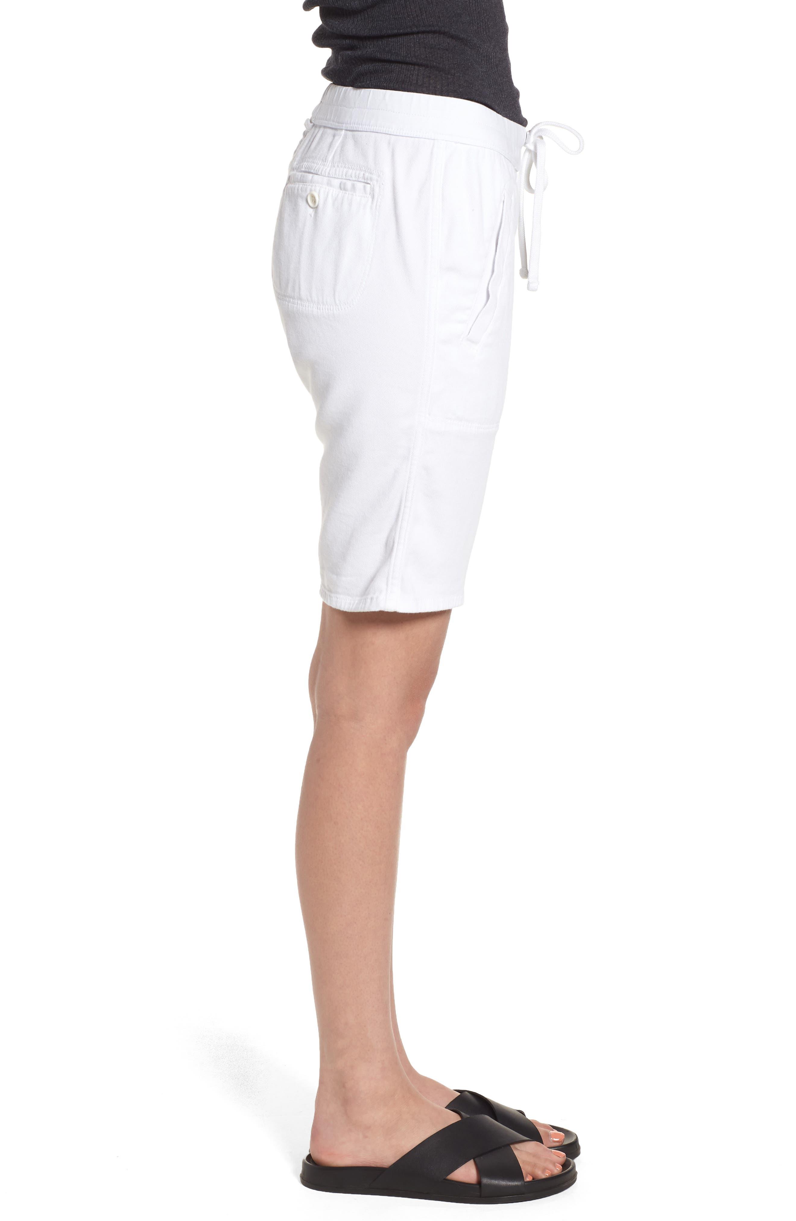 Soft Drape Utility Shorts,                             Alternate thumbnail 3, color,                             White